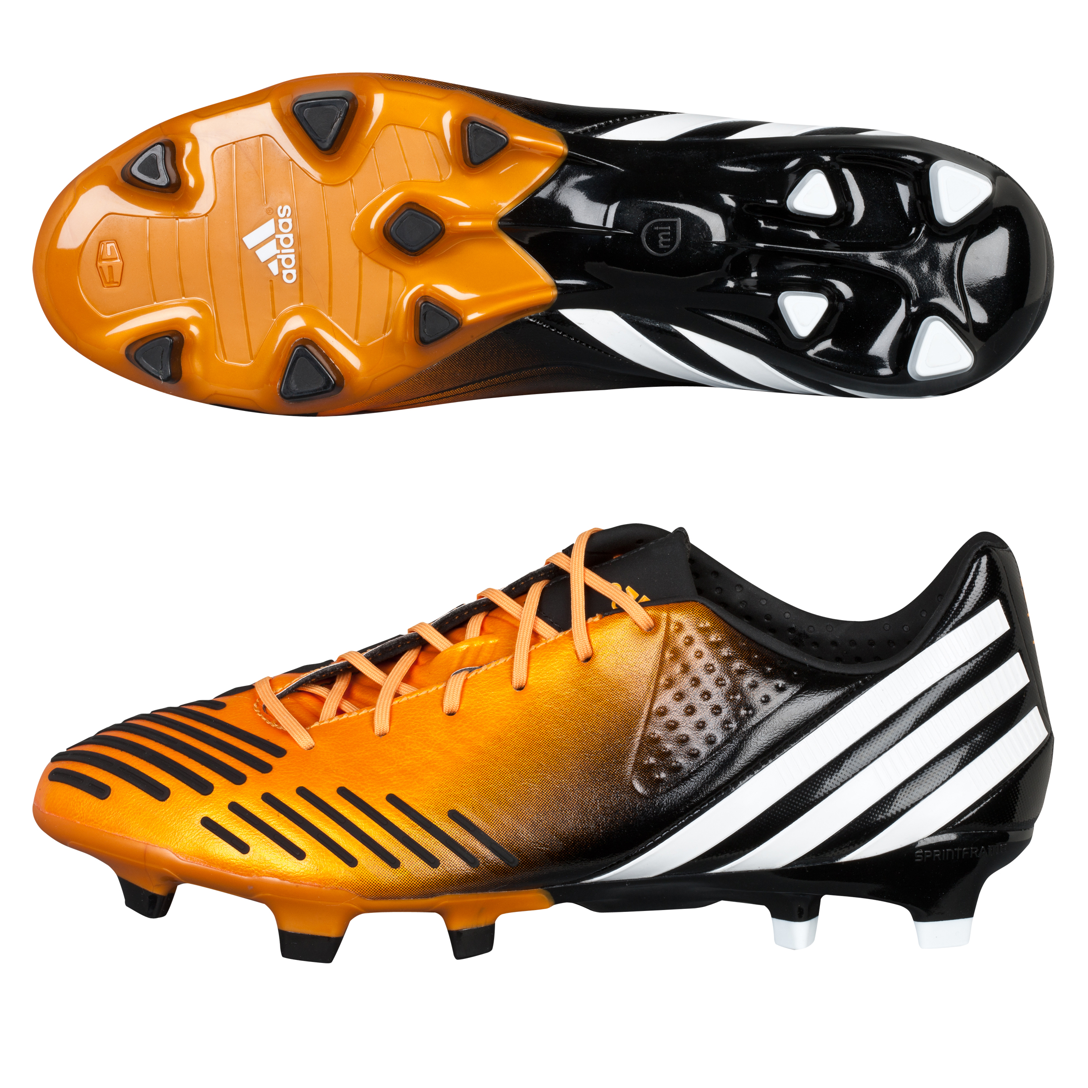 Adidas Predator LZ TRX Firm Ground Football Boots - Bright Gold/White/Black