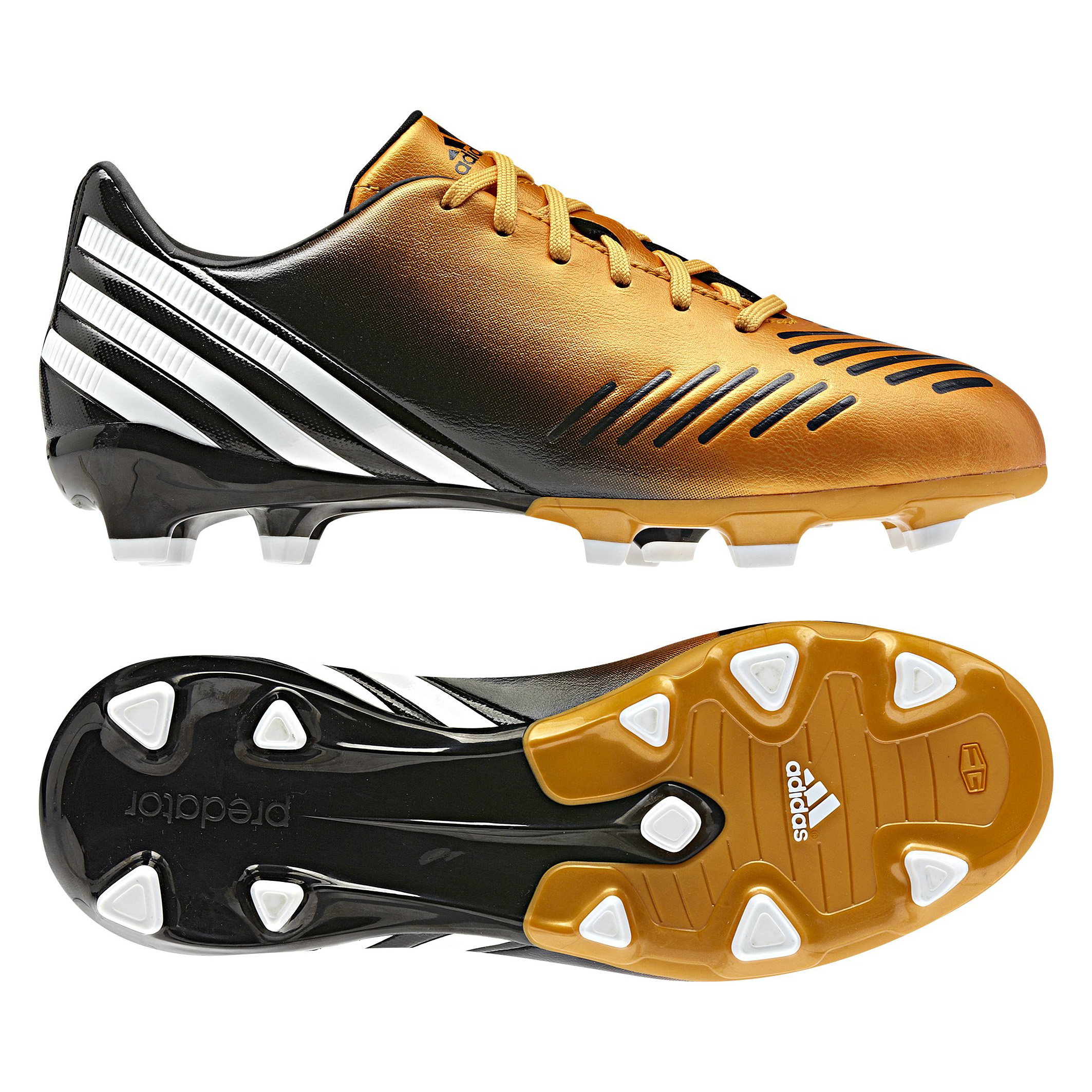 Adidas Predator Absolado LZ TRX Firm Ground Football Boots - Bright Gold/Running White/Black - Kids