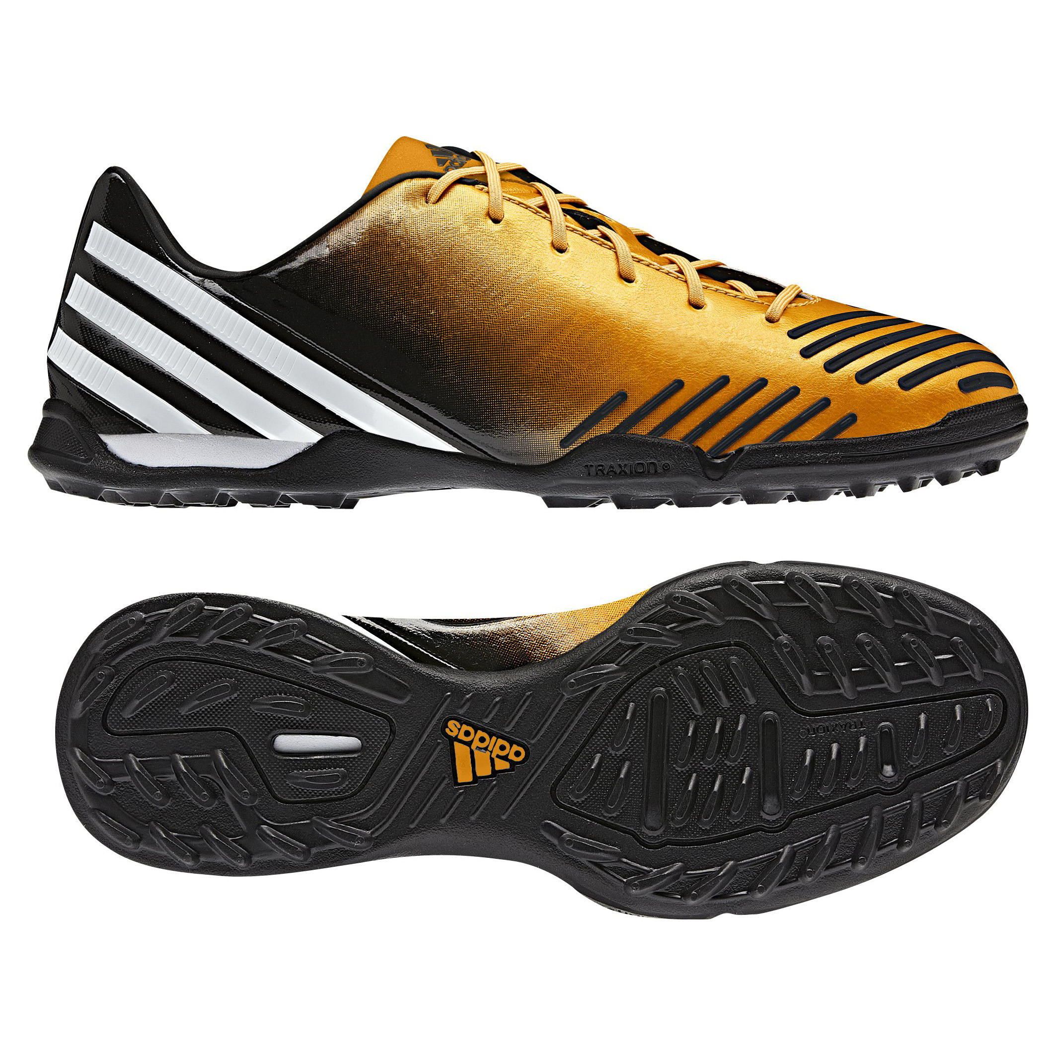 Adidas Predator Absolado LZ TRX Astro Turf Trainers - Bright Gold/Running White/Black-Kids