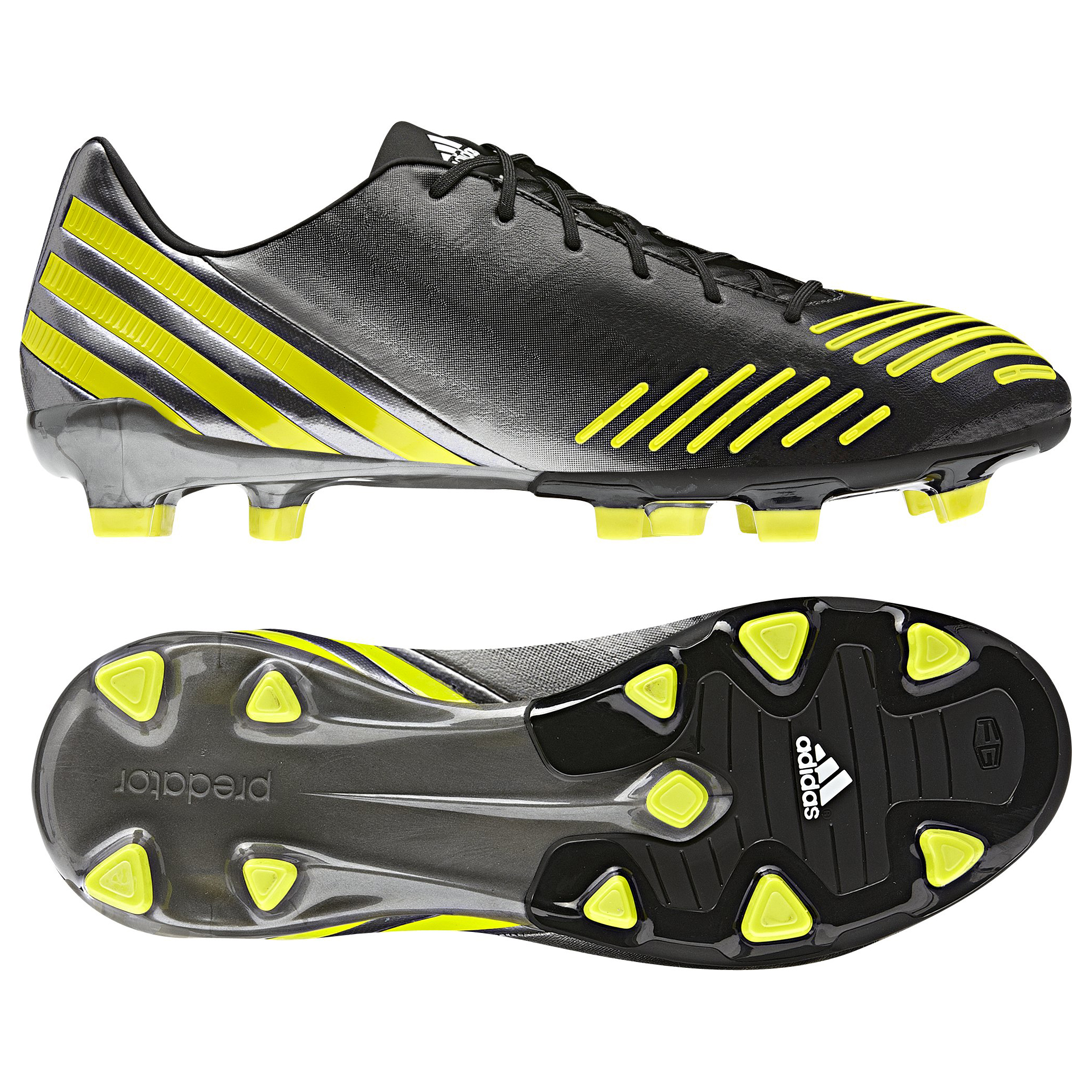 Adidas Predator Absolado LZ TRX Firm Ground Football Boots - Black/Lab Lime/Neo Iron Met - Kids