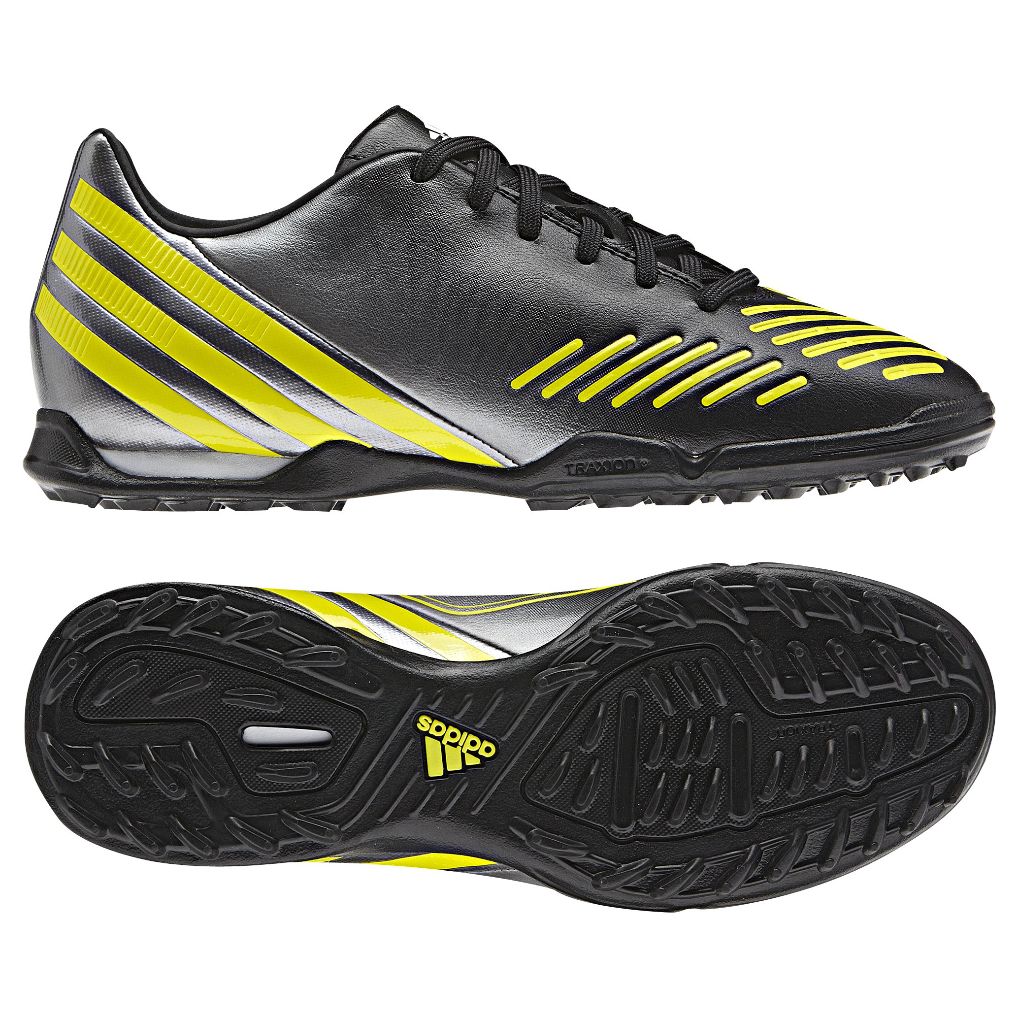 Adidas Predator Absolado LZ TRX Astro Turf Trainers - Black/Lab Lime/Neo Iron Met - Kids