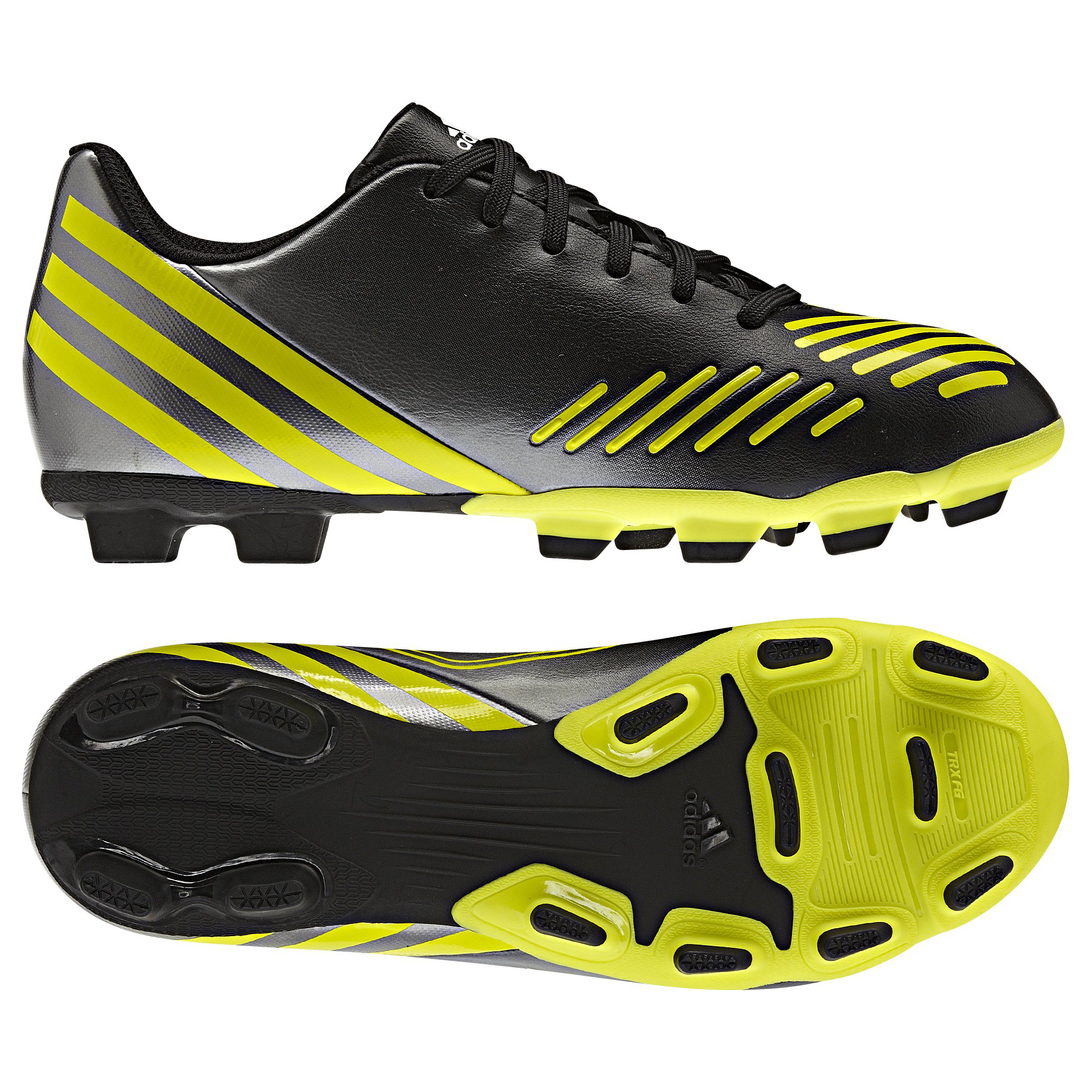 Adidas Predito LZ TRX Firm Ground Football Boots - Black/Lab Lime/Neo Iron Met - Kids