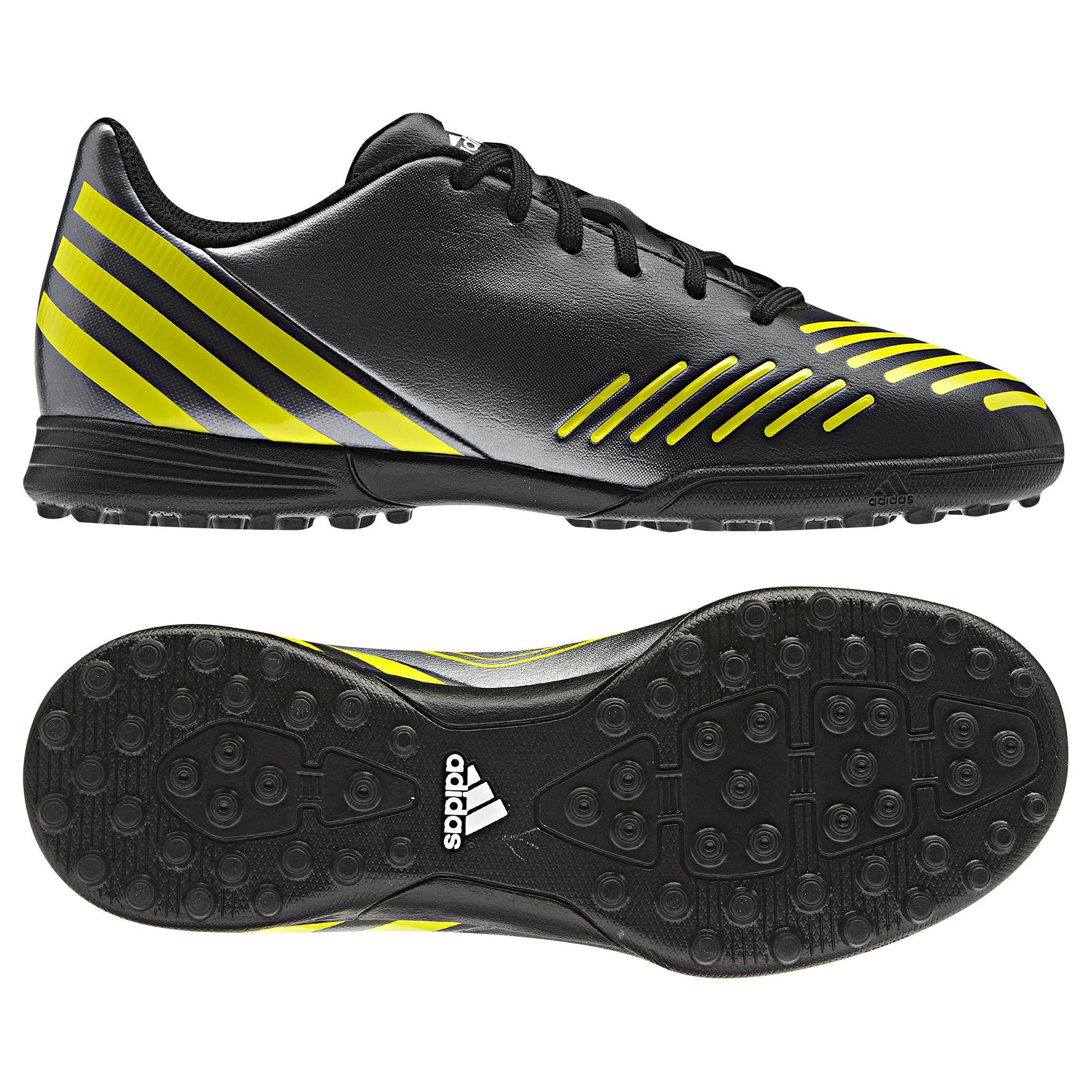 Adidas Predito LZ TRX Astro Turf Trainers - Black/Lab Lime/Neo Iron Met - Kids