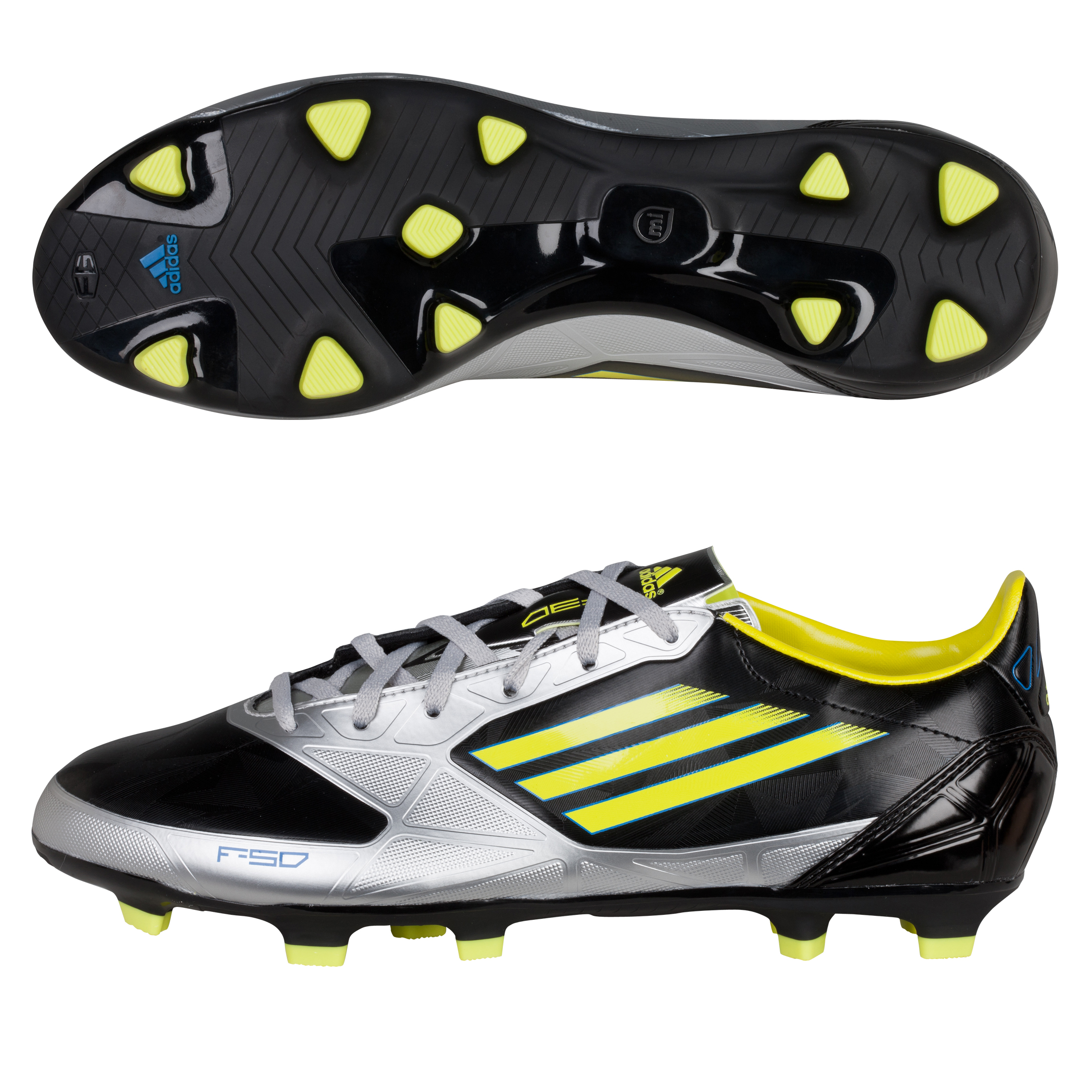 Adidas F30 TRX Firm Ground Football Boots - Black/Lab Lime/Metallic Silver
