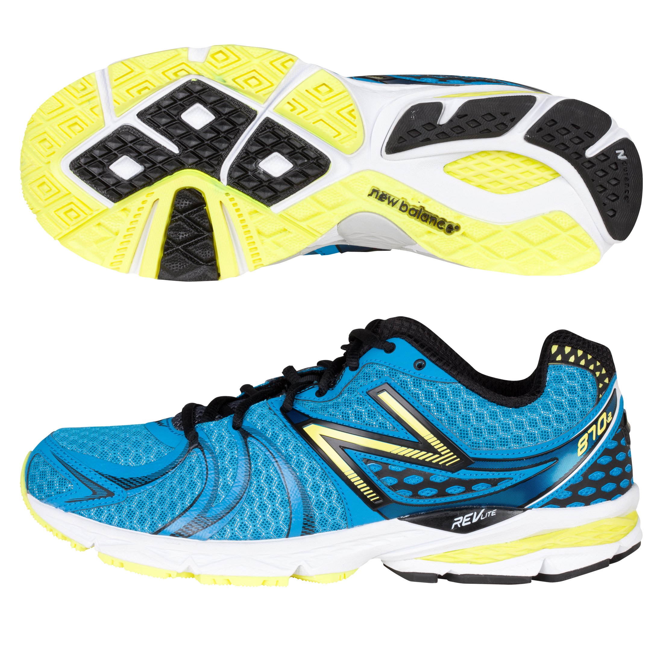 New Balance 870V2 Trainers - Blue/Yellow