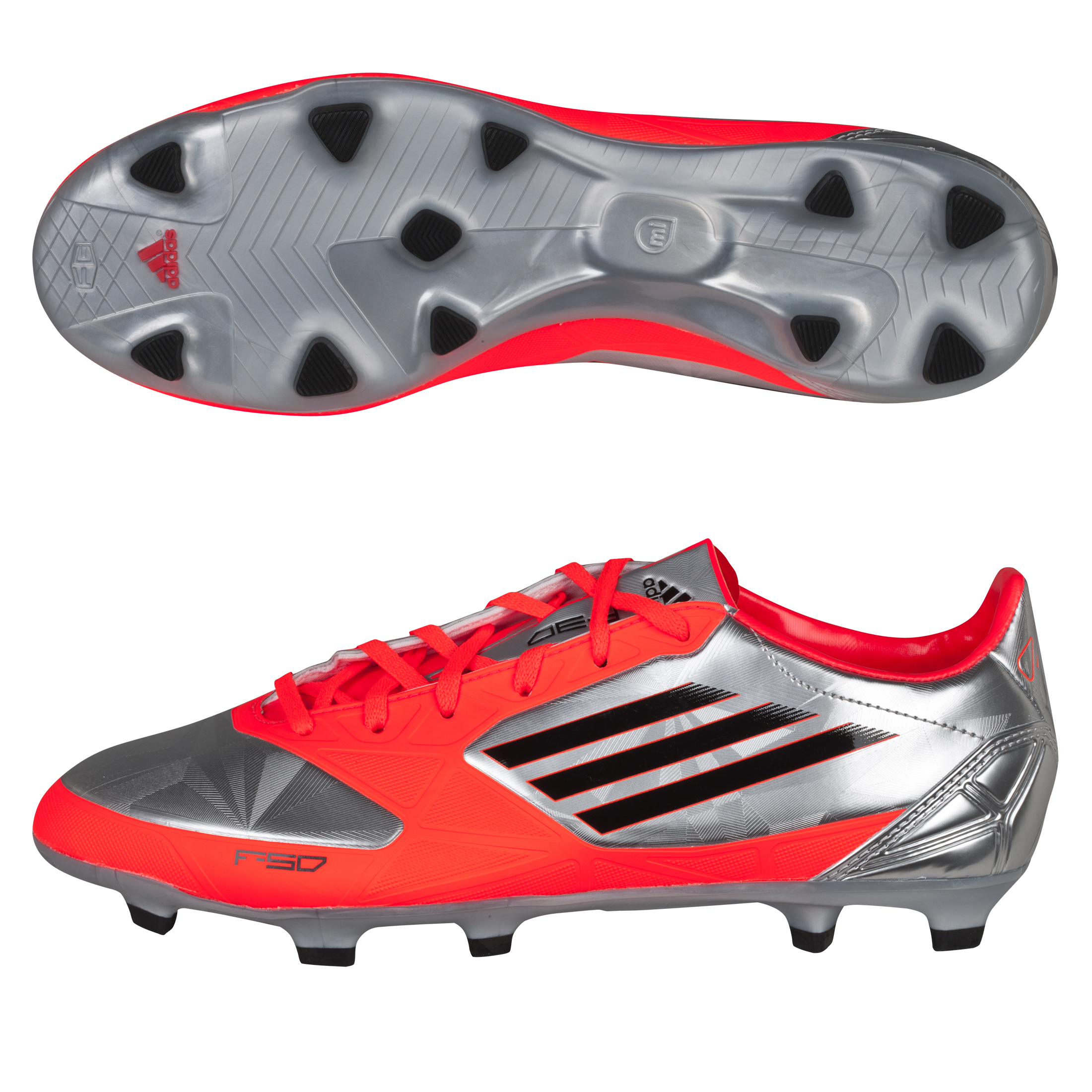 Adidas F30 TRX Firm Ground Football Boots - Metallic Silver/Black/Infrared