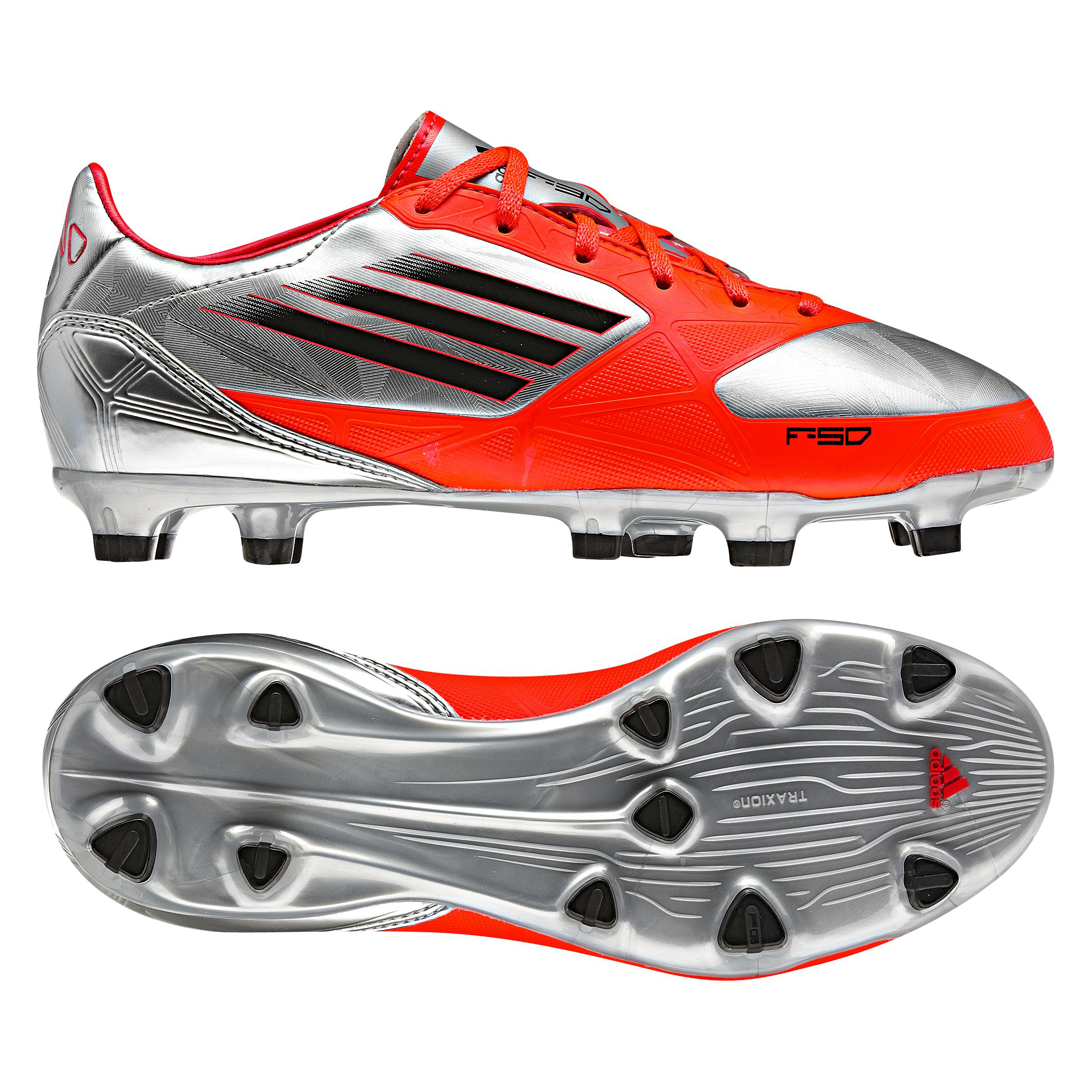 Adidas F30 TRX Firm Ground Football Boots - Metallic Silver/Black/Infrared - Kids