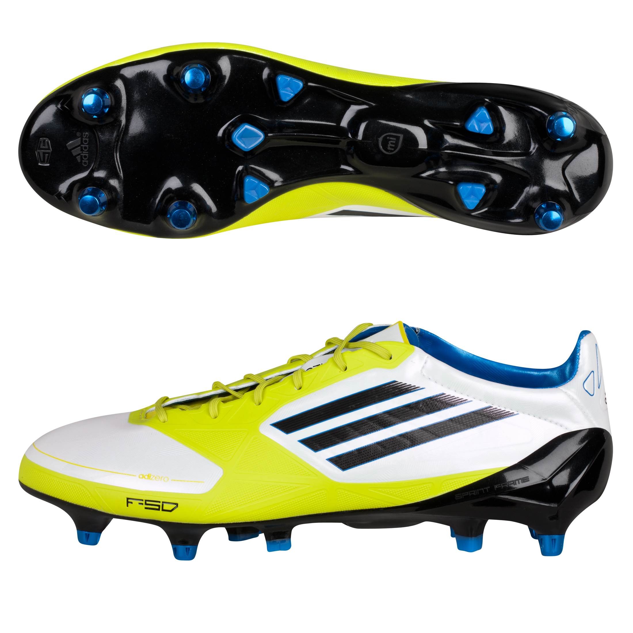 Adidas F50 Adizero XTRX Soft Ground Football Boots - White/Black/Lab Lime