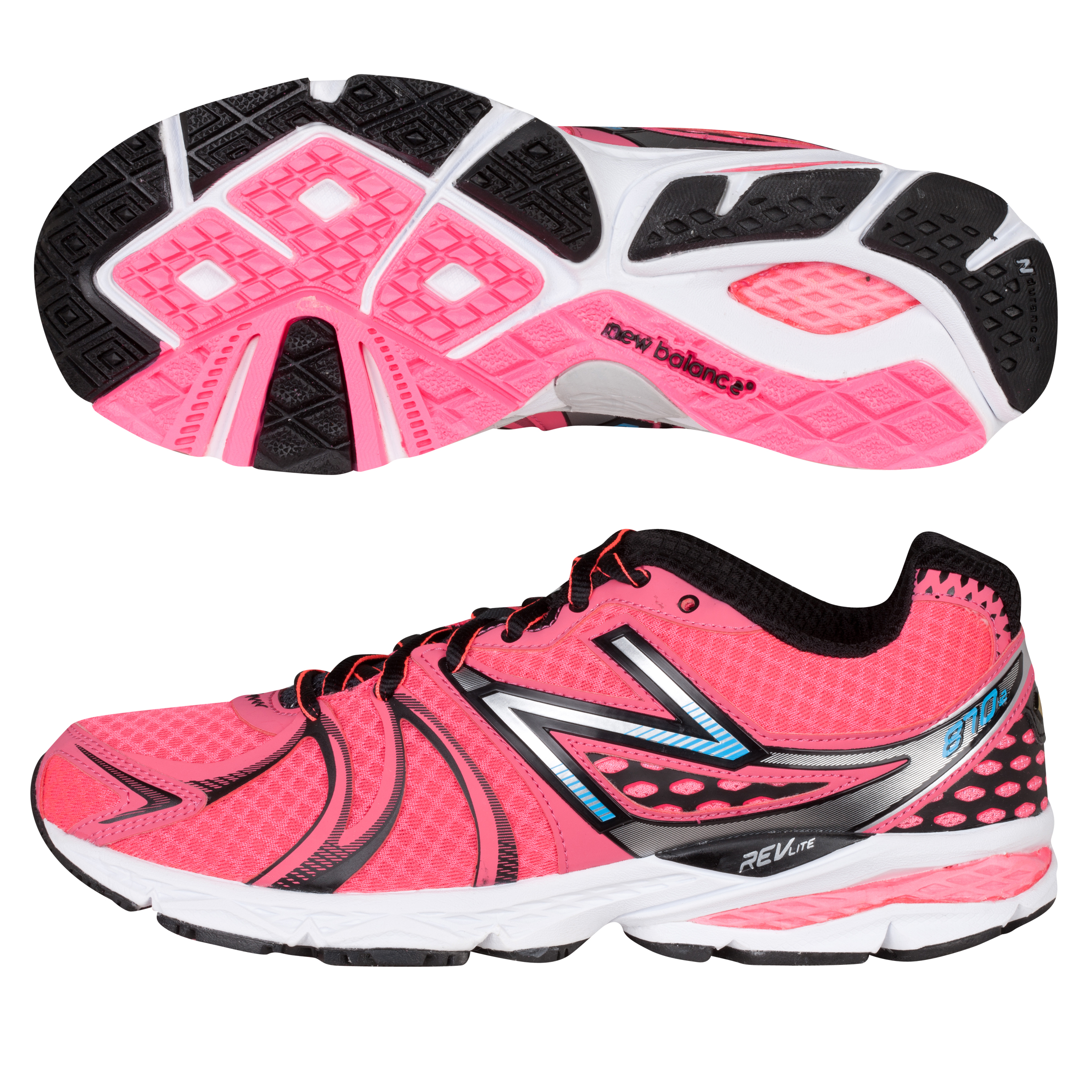 New Balance 870V2 Trainer - Pink Black - Womens