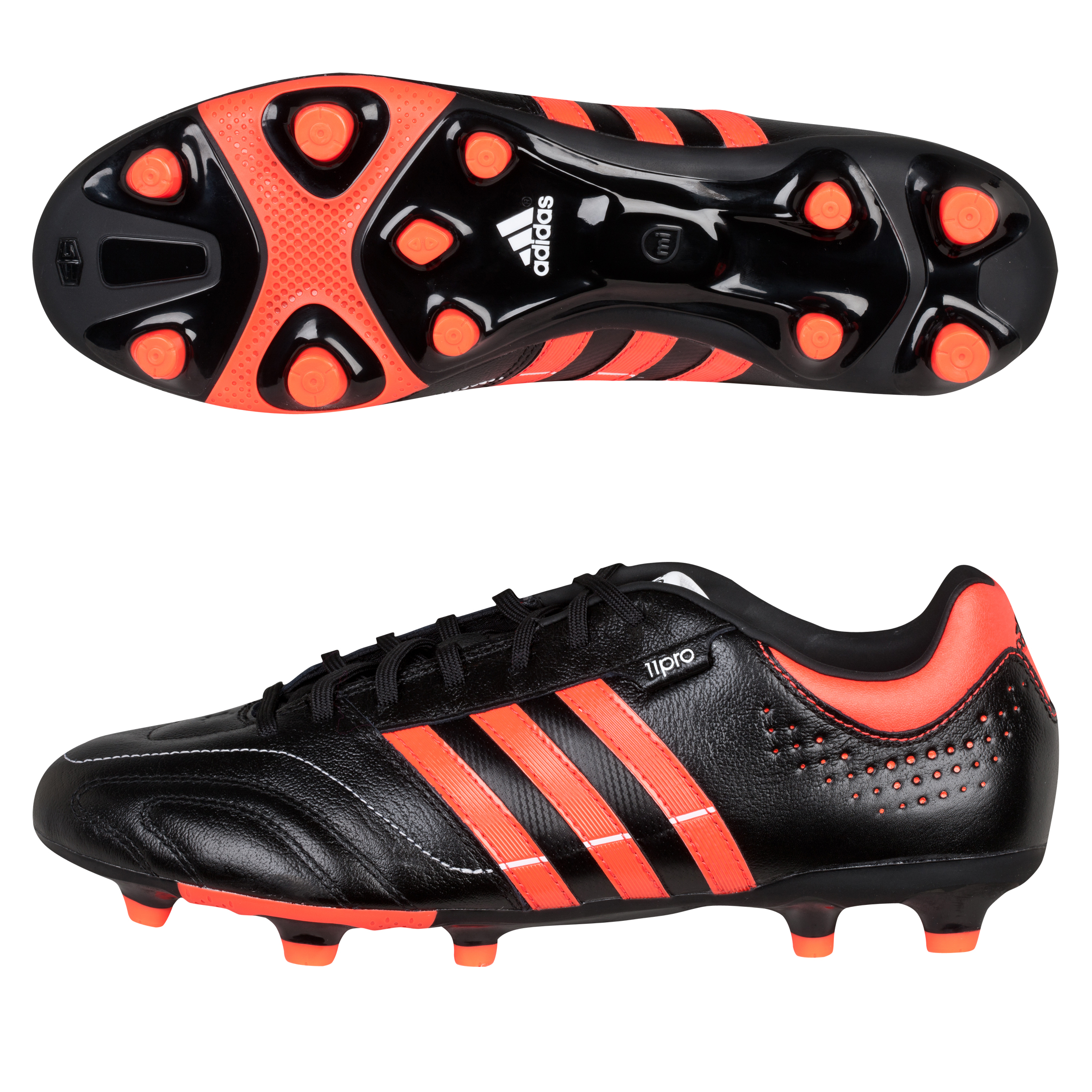 Adidas 11Nova TRX Firm Ground Football Boots - Black/Infrared/White