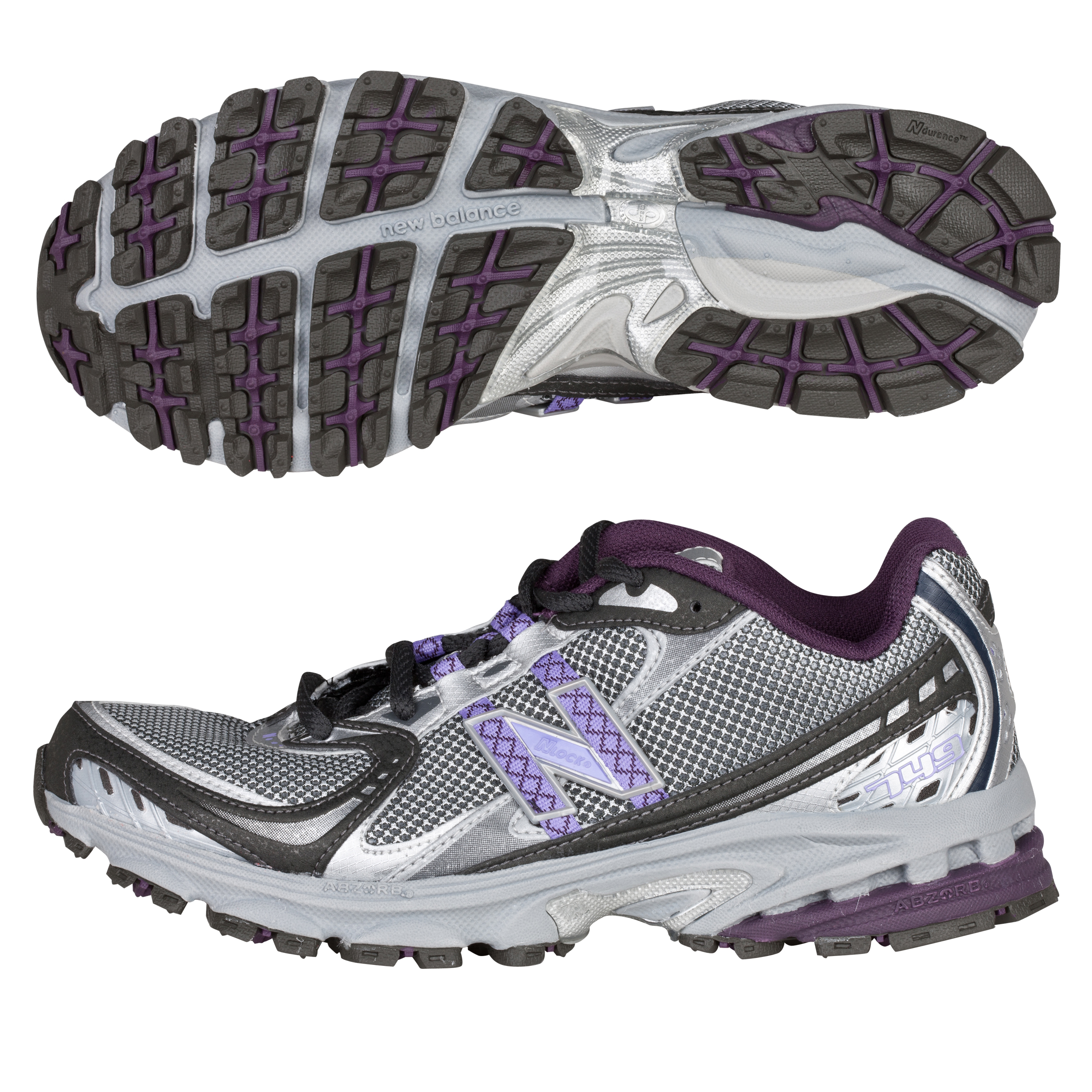 New Balance 749 Running Trainers - Grey/Purple - Womens