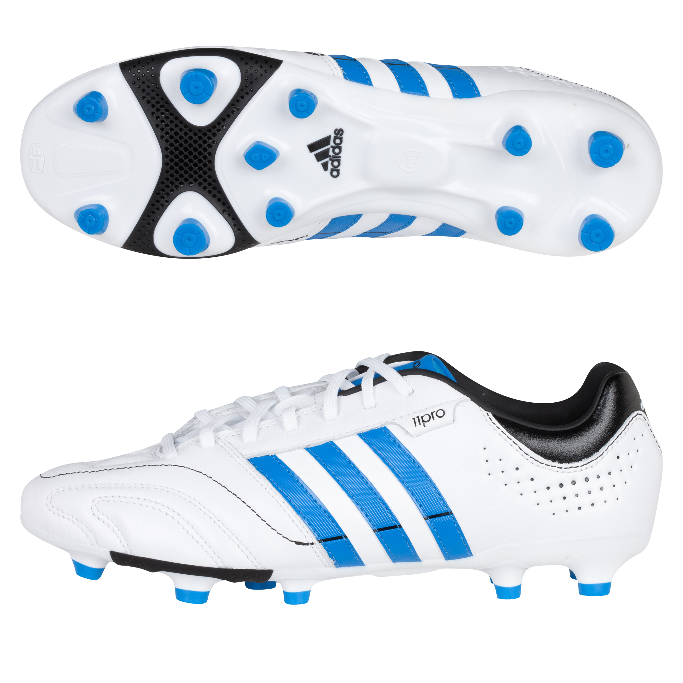 Adidas 11Nova TRX Firm Ground Football Boots - White/Bright Blue/Black