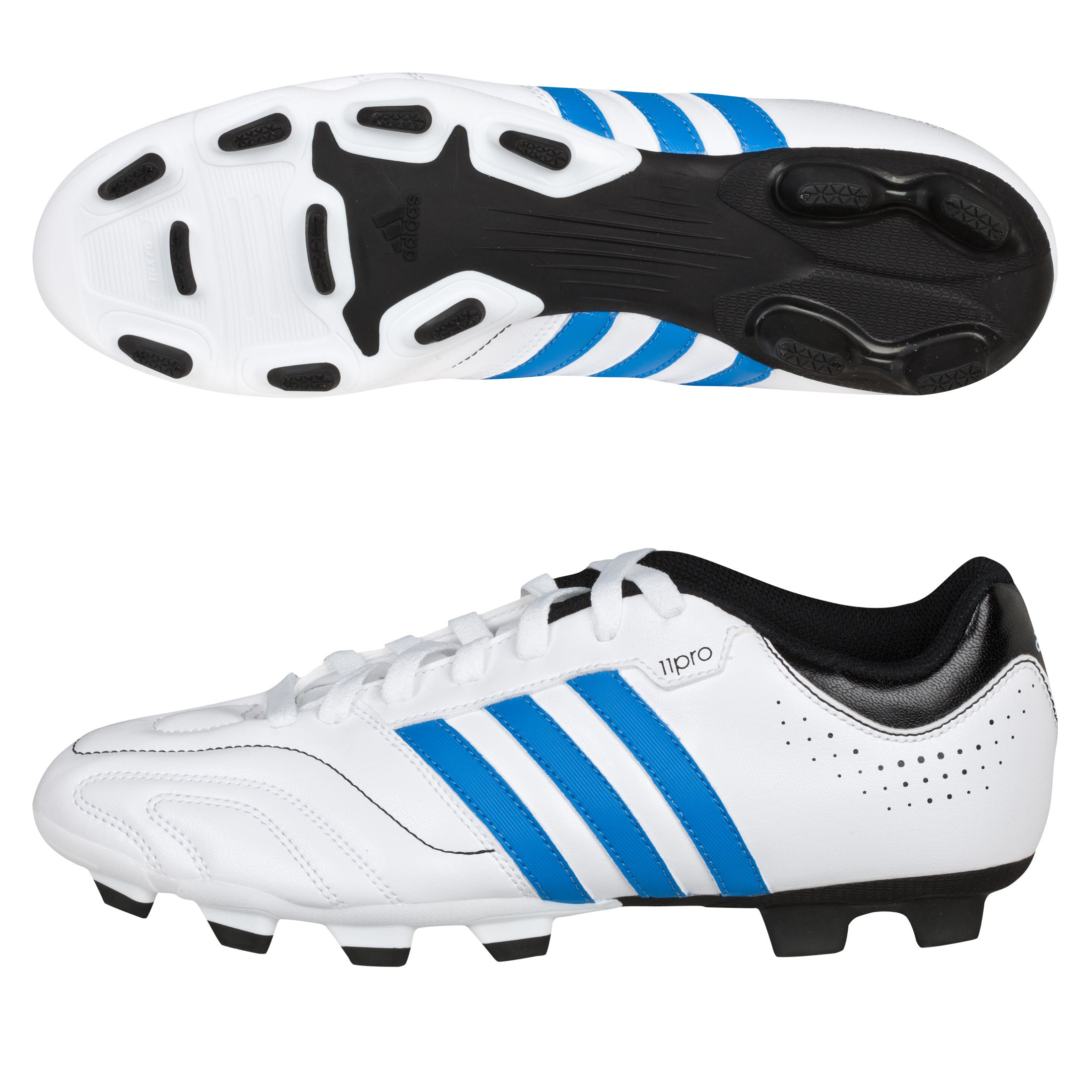 Adidas 11Questra TRX Firm Ground Football Boots - White/Bright Blue/Black
