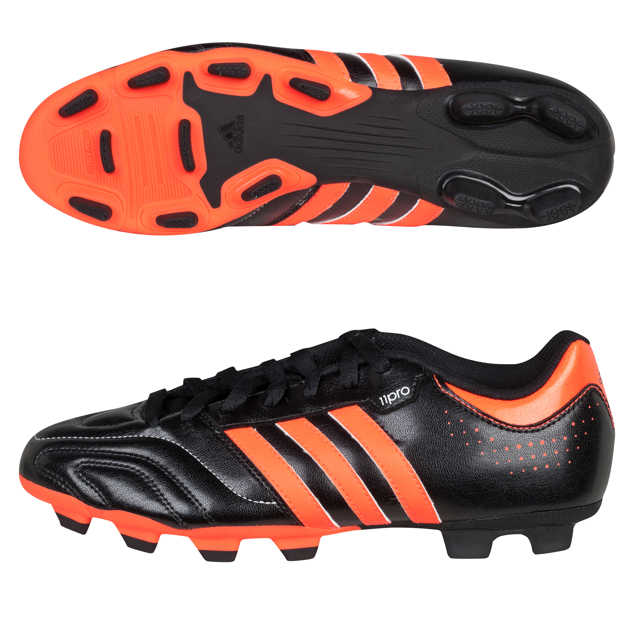 Adidas 11Questra TRX Firm Ground Football Boots - Black/Infrared/White