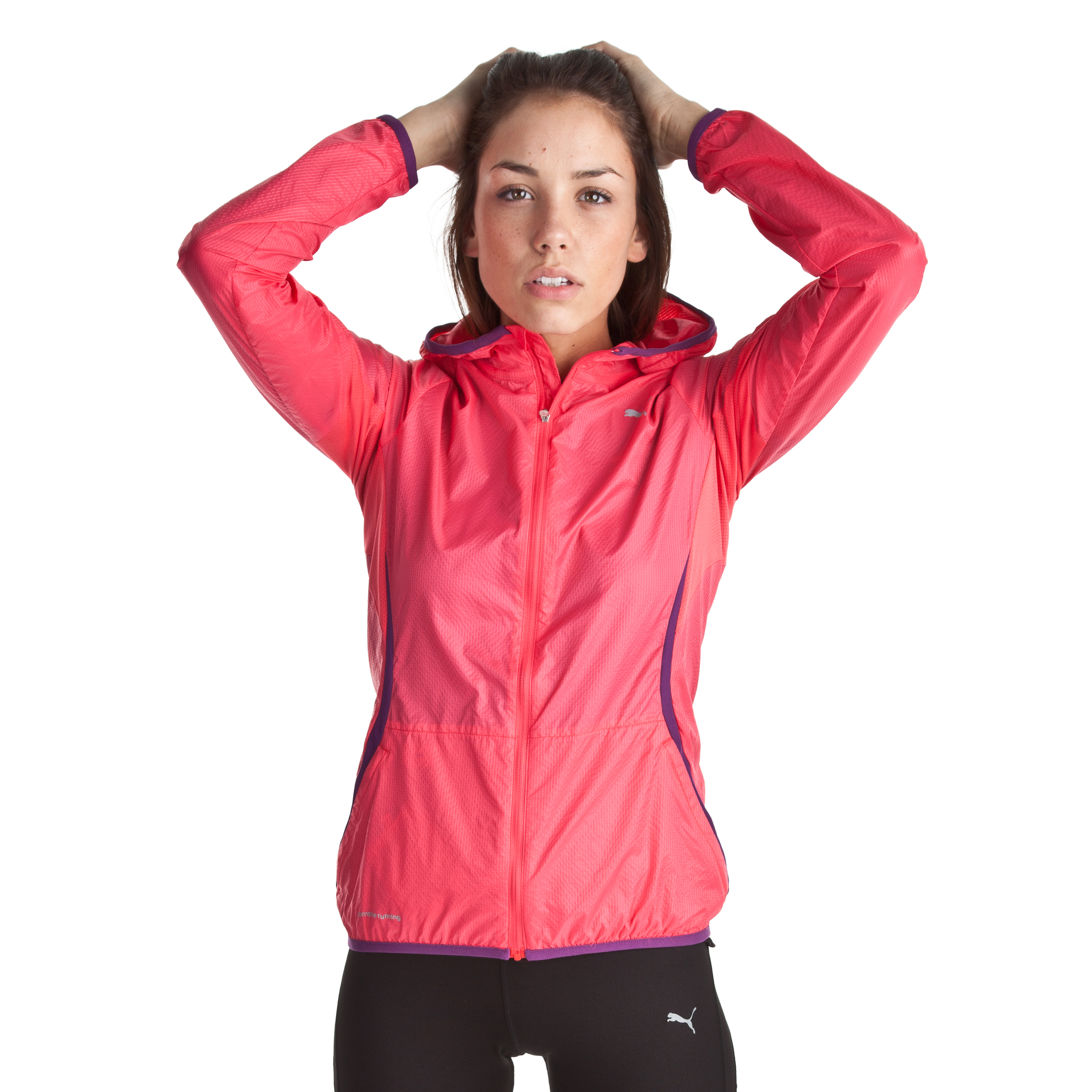 Puma Essentials Hooded Lightweight Jacket - Teaberry Red - Womens