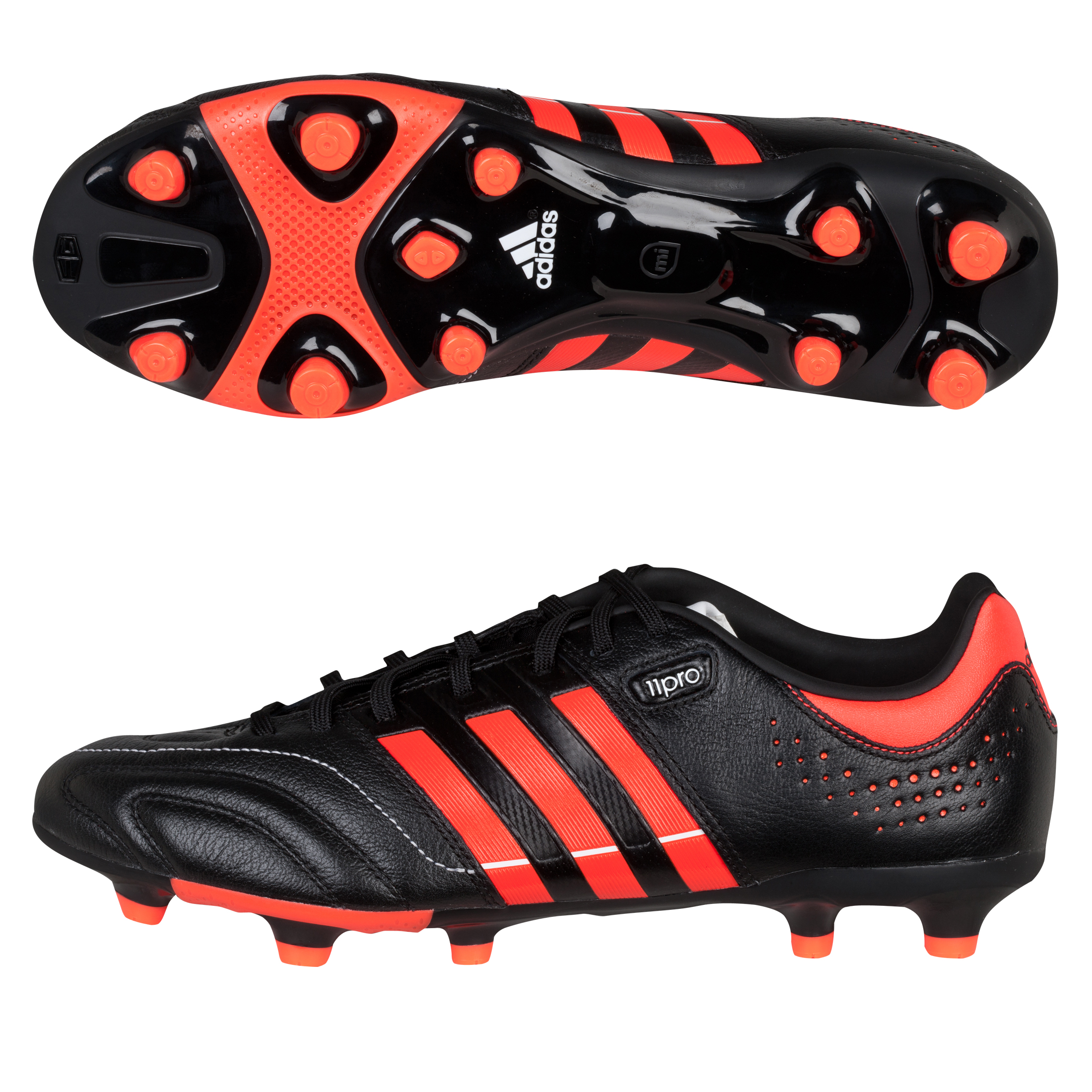 Adidas 11Core TRX Firm Ground Football Boots - Black/Infrared/White
