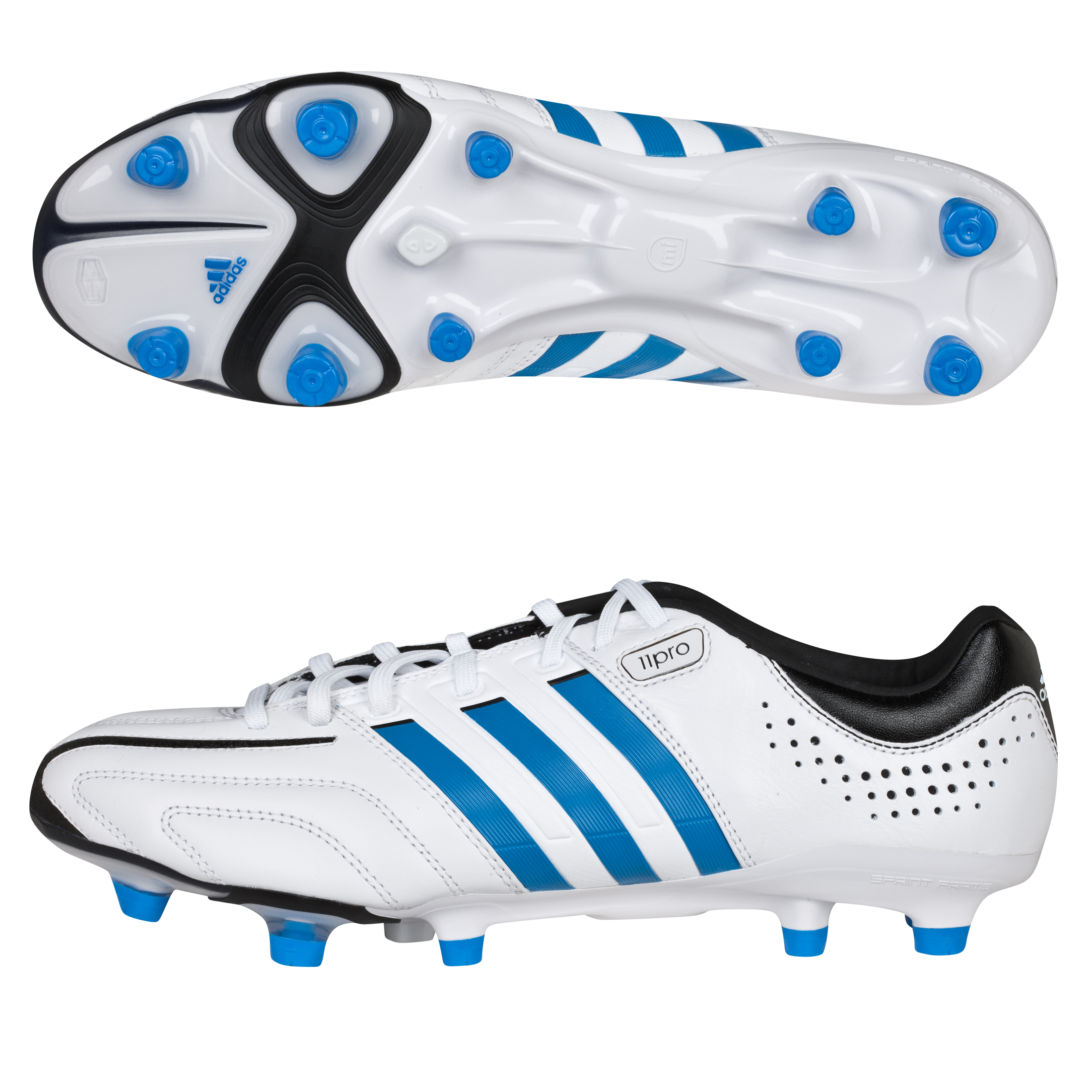Adidas Adipure 11Pro TRX Football Boots - White/Bright Blue/Black