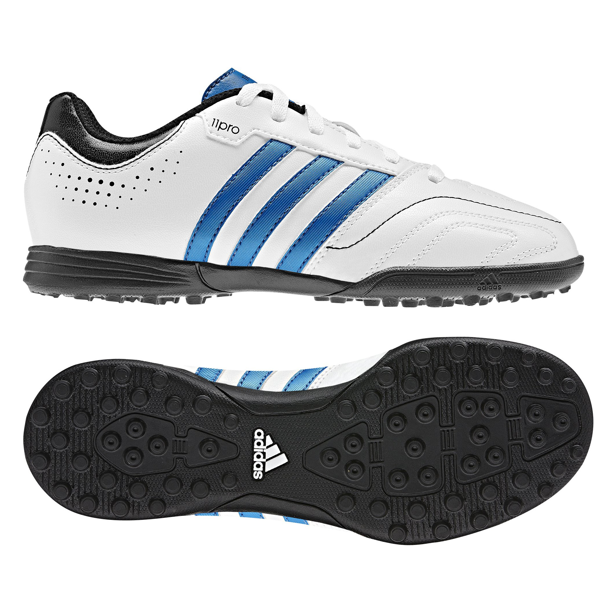 Adidas 11Questra TRX Astro Turf Trainers - Running White/Bright Blue/Black - Kids