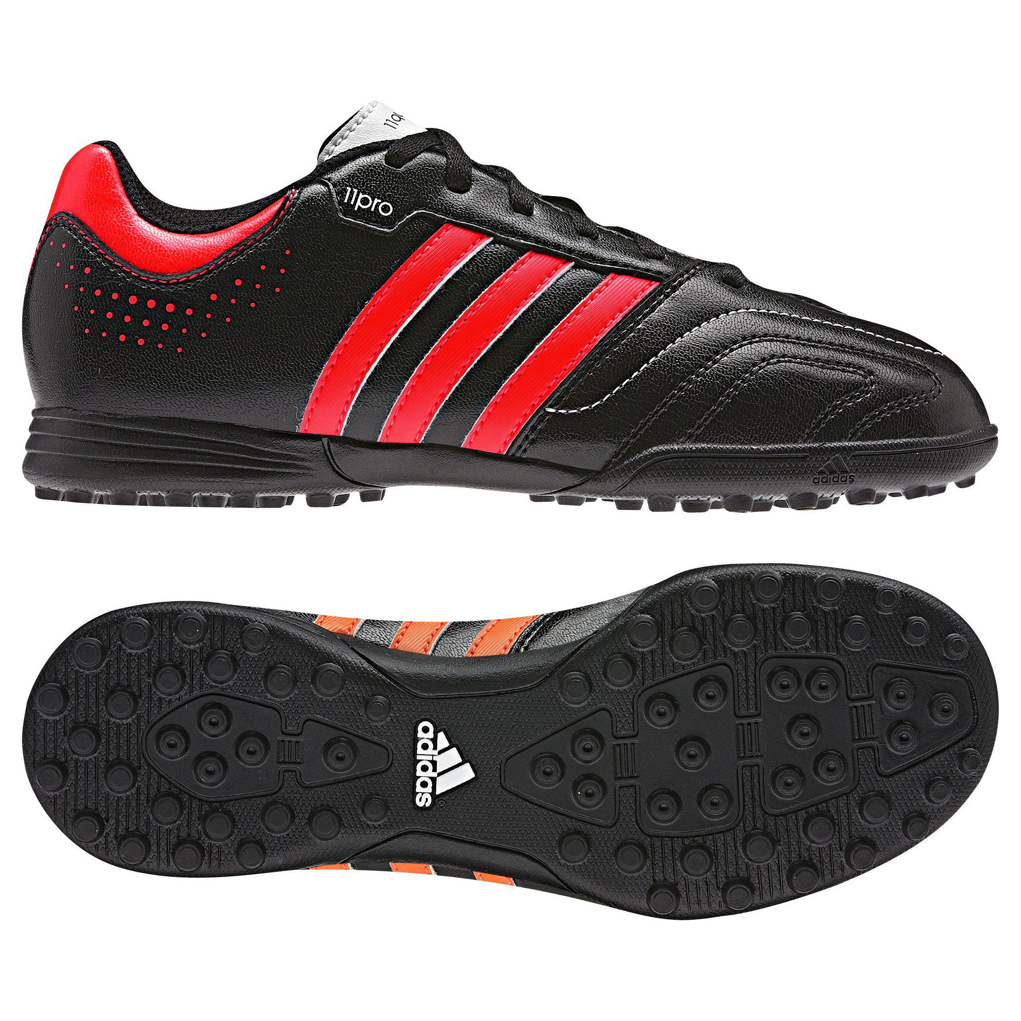 Adidas 11Questra TRX Astro Turf Trainers - Black/Infrared/Running White - Kids