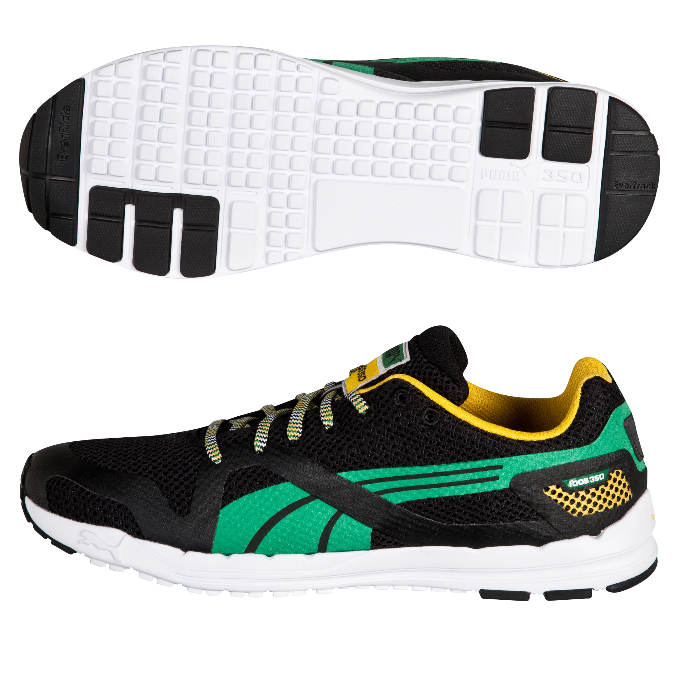 Puma Faas 350 JAM Running Trainers - Black/Amazon/Spectra Yellow