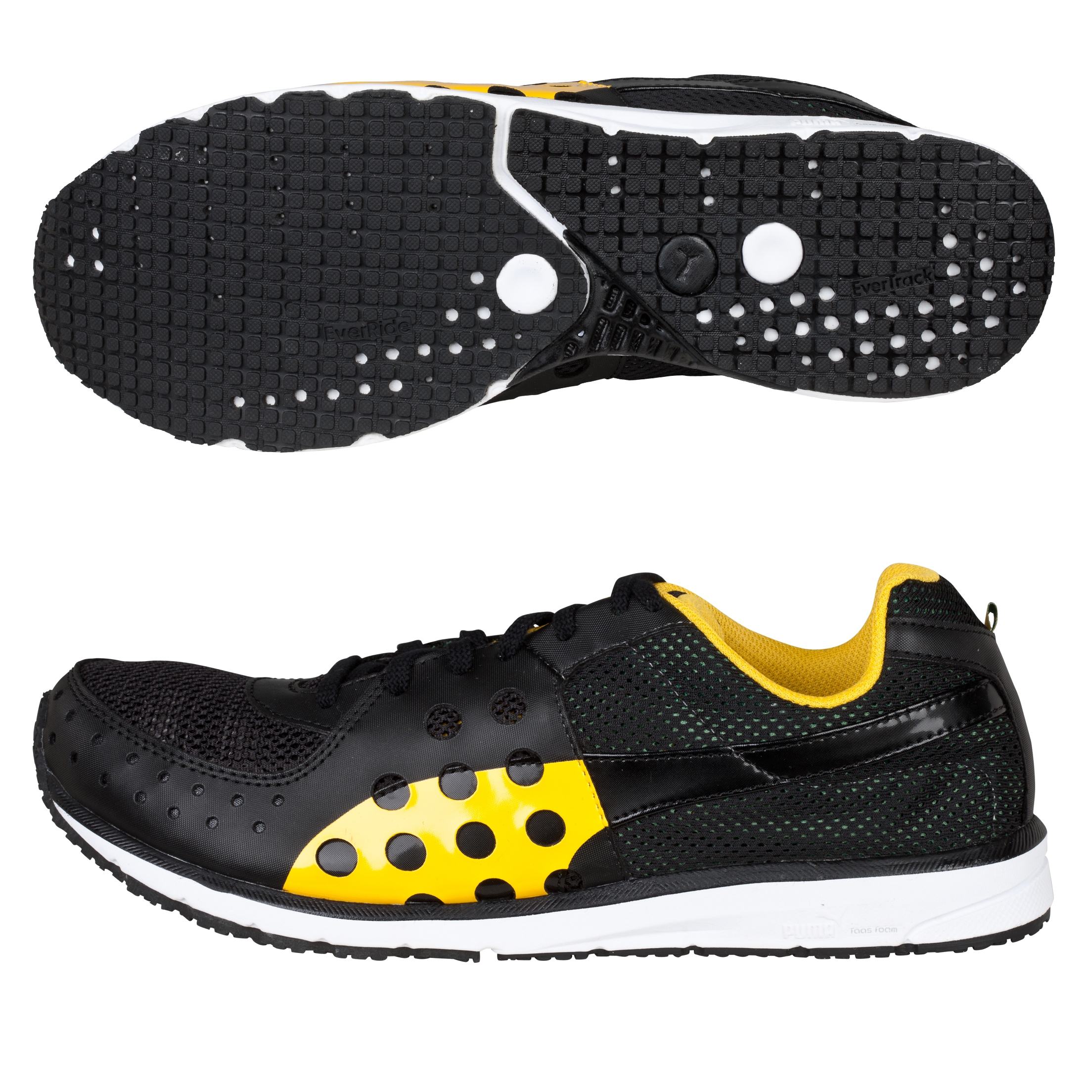 Puma Faas 300 JAM II Running Trainers - Black/Amazon/Spectra Yellow