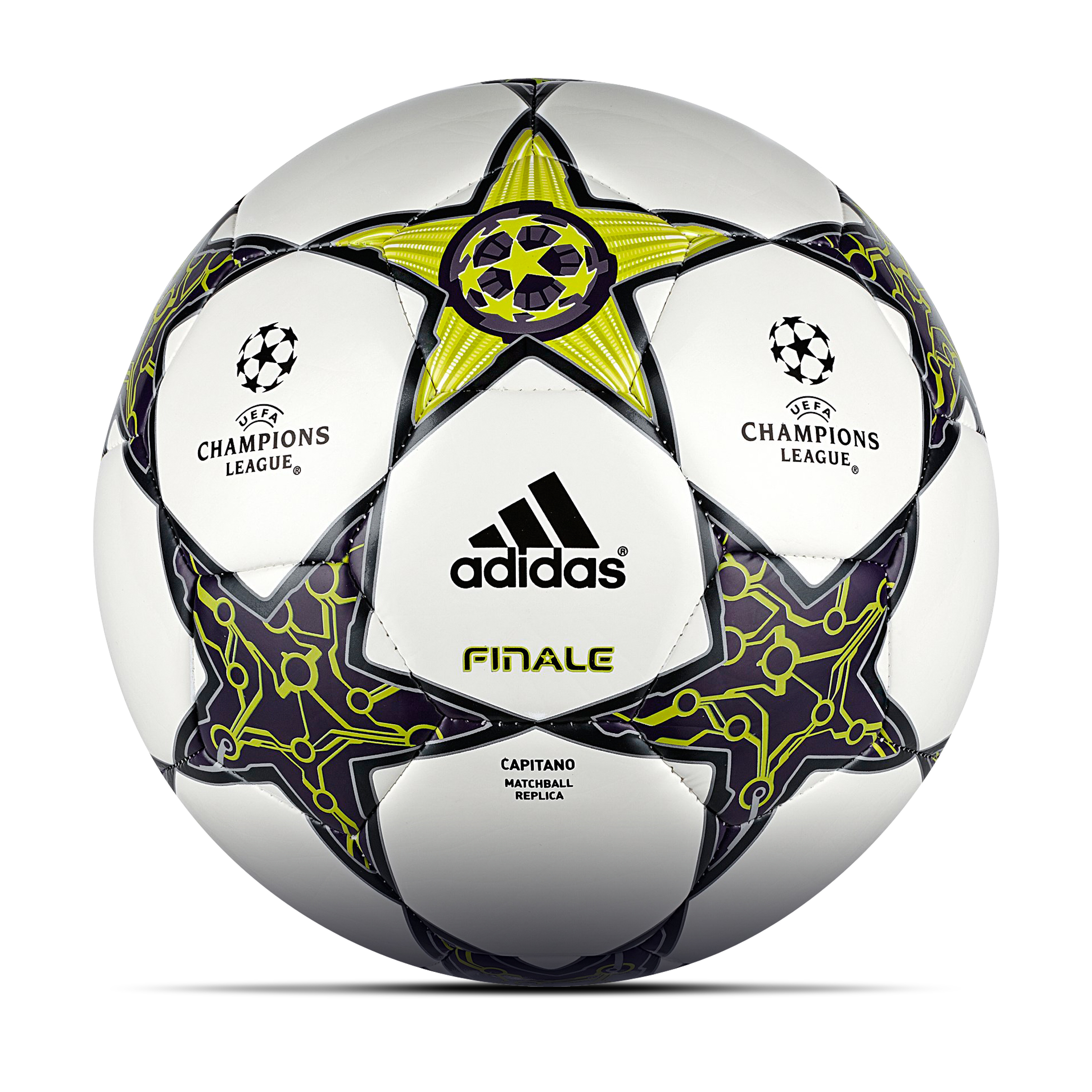 Adidas UEFA Champions League 2012 Finale Capitano Football - White/Lab Lime/Dark Violet