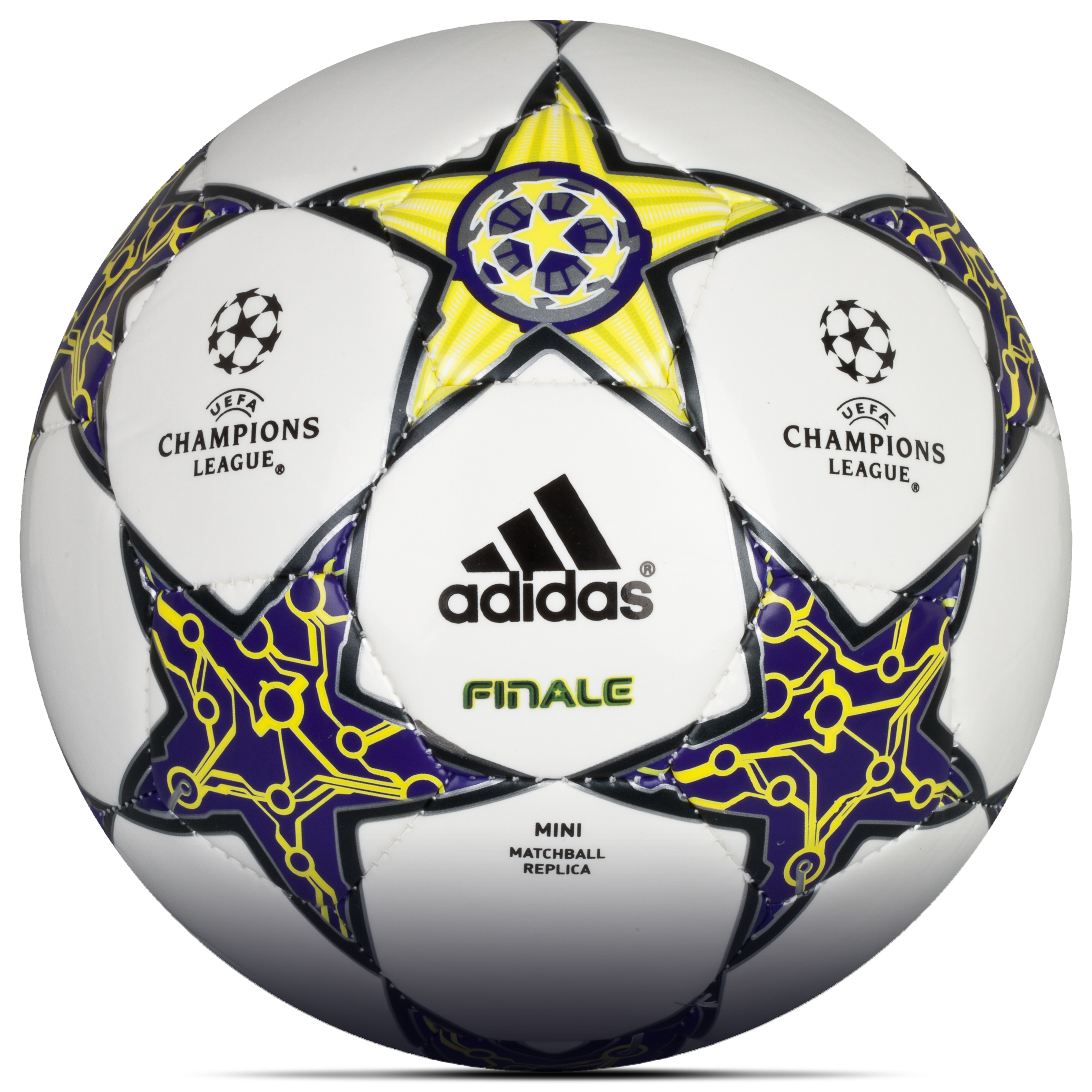 Adidas UEFA Champions League 2012 Finale Mini Football - White/Lab Lime/Dark Violet