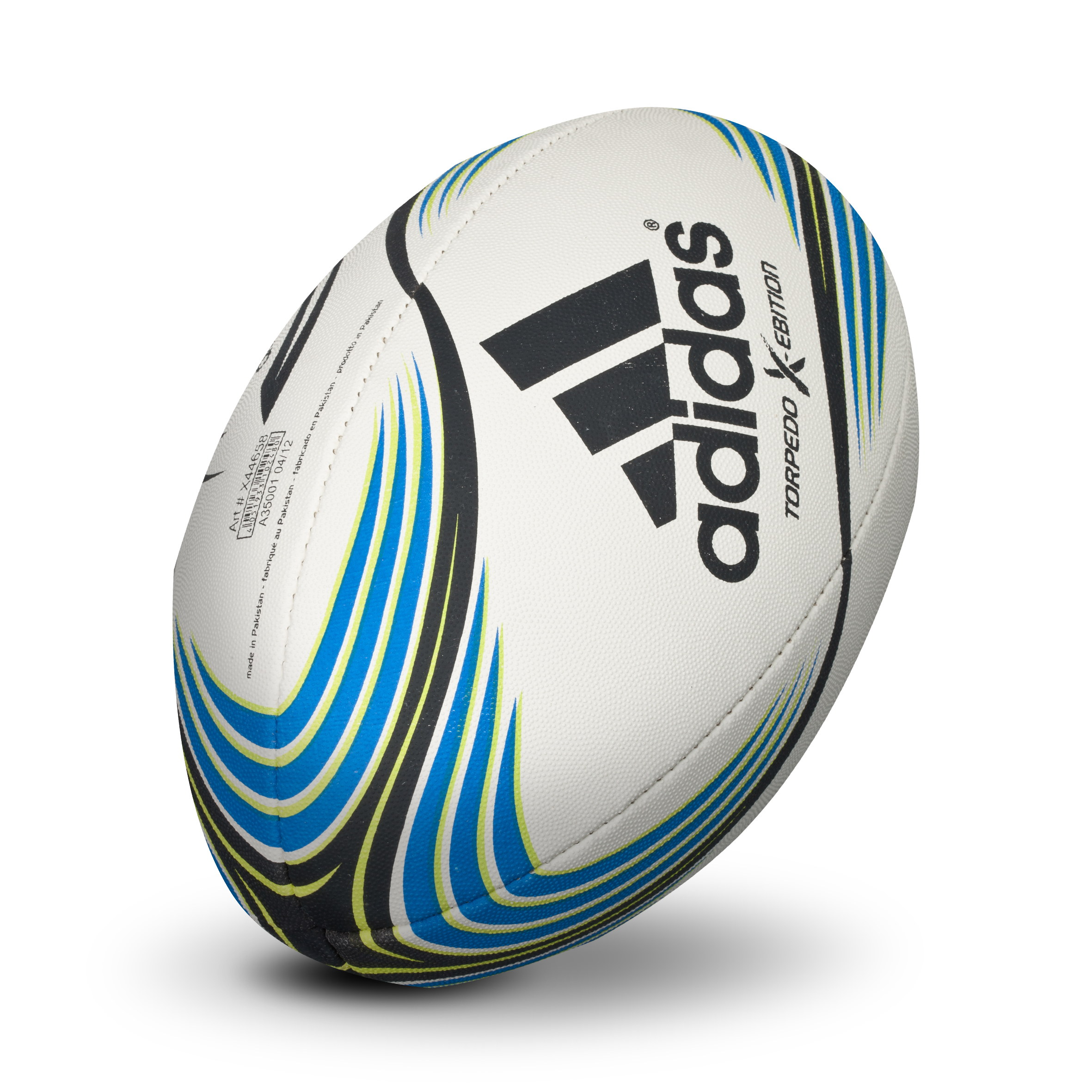adidas Torpedo X-Ebition Rugby Ball - White