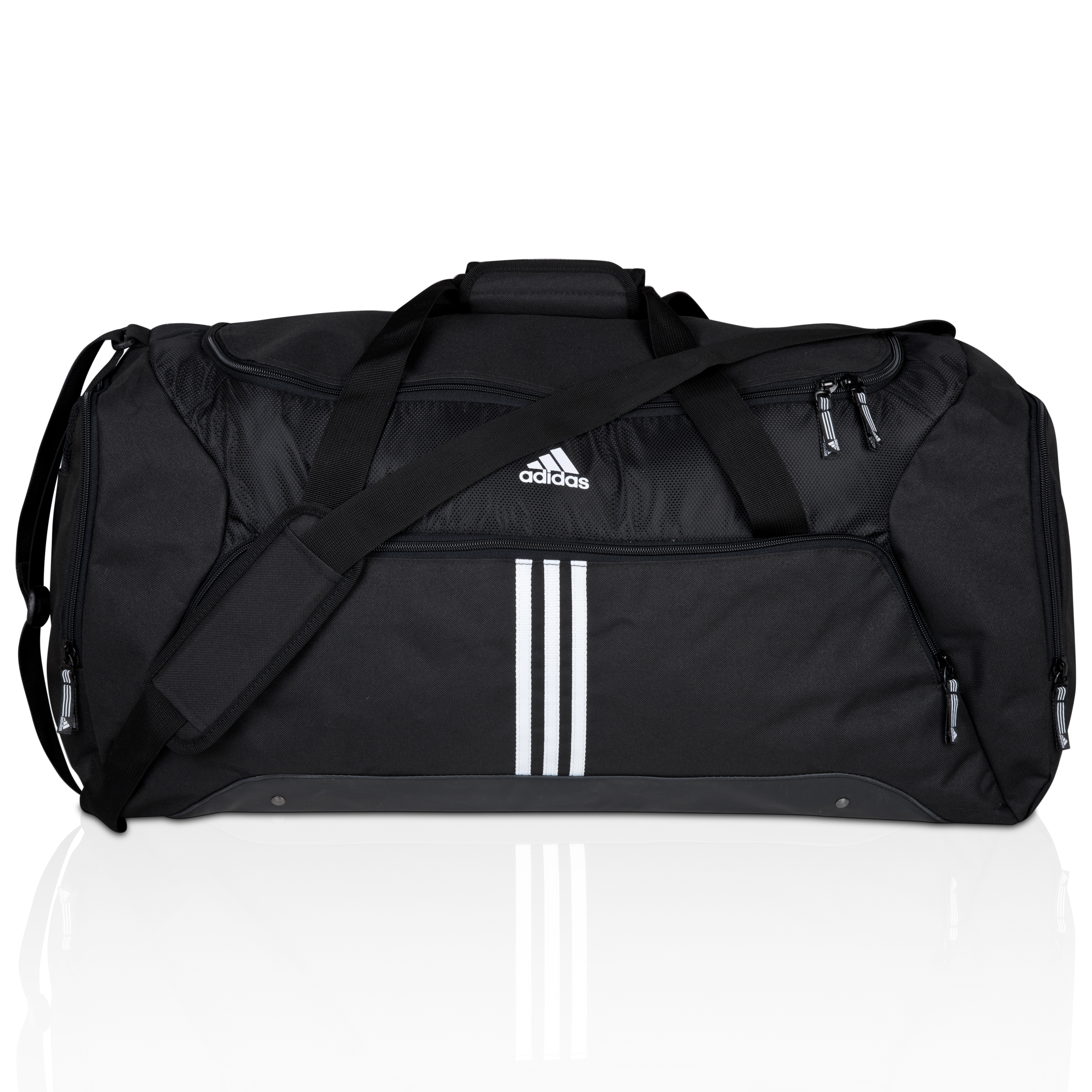 adidas 3Stripe Essentials Large Holdall - Black/White