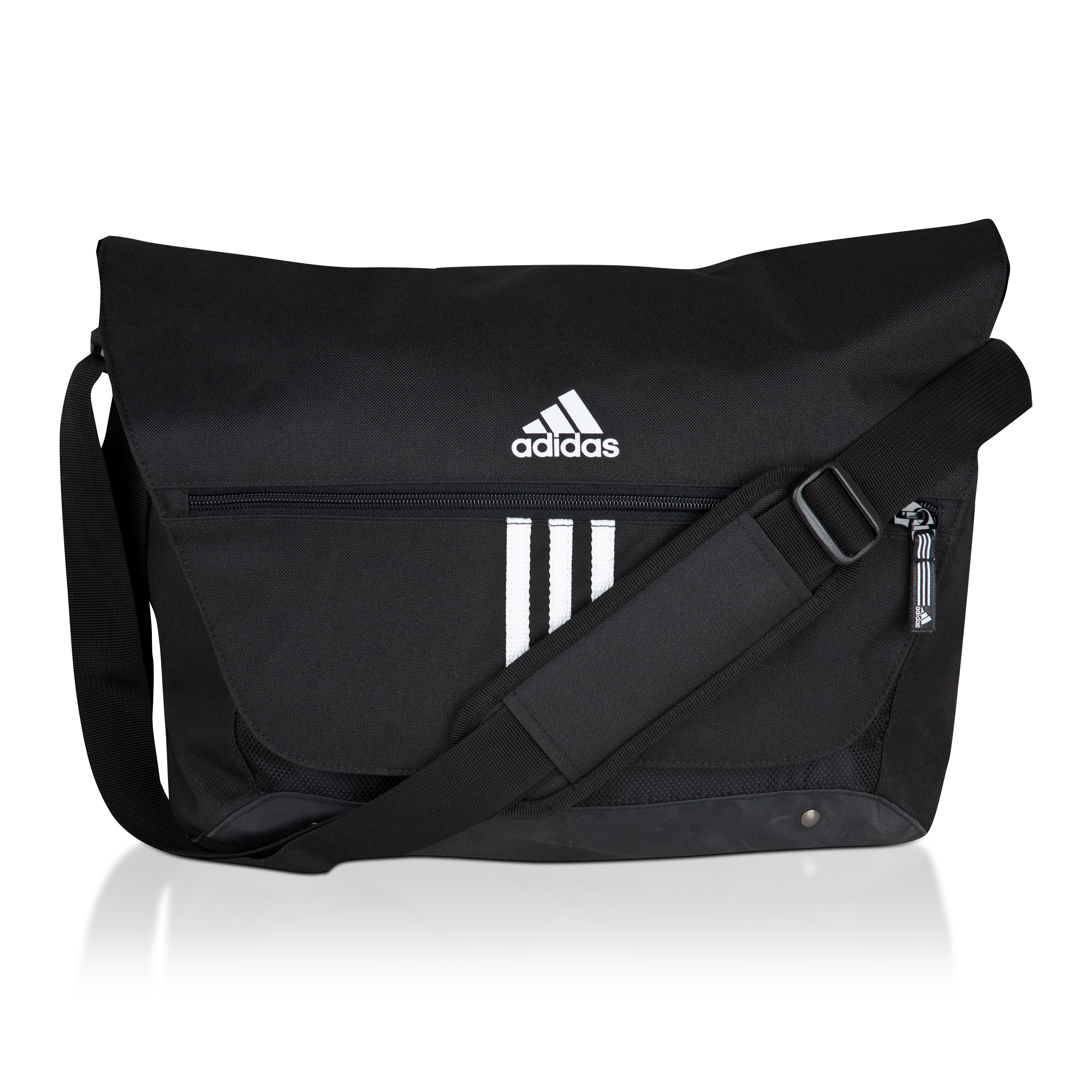 adidas 3Stripe Essentials Messenger Bag - Black/White
