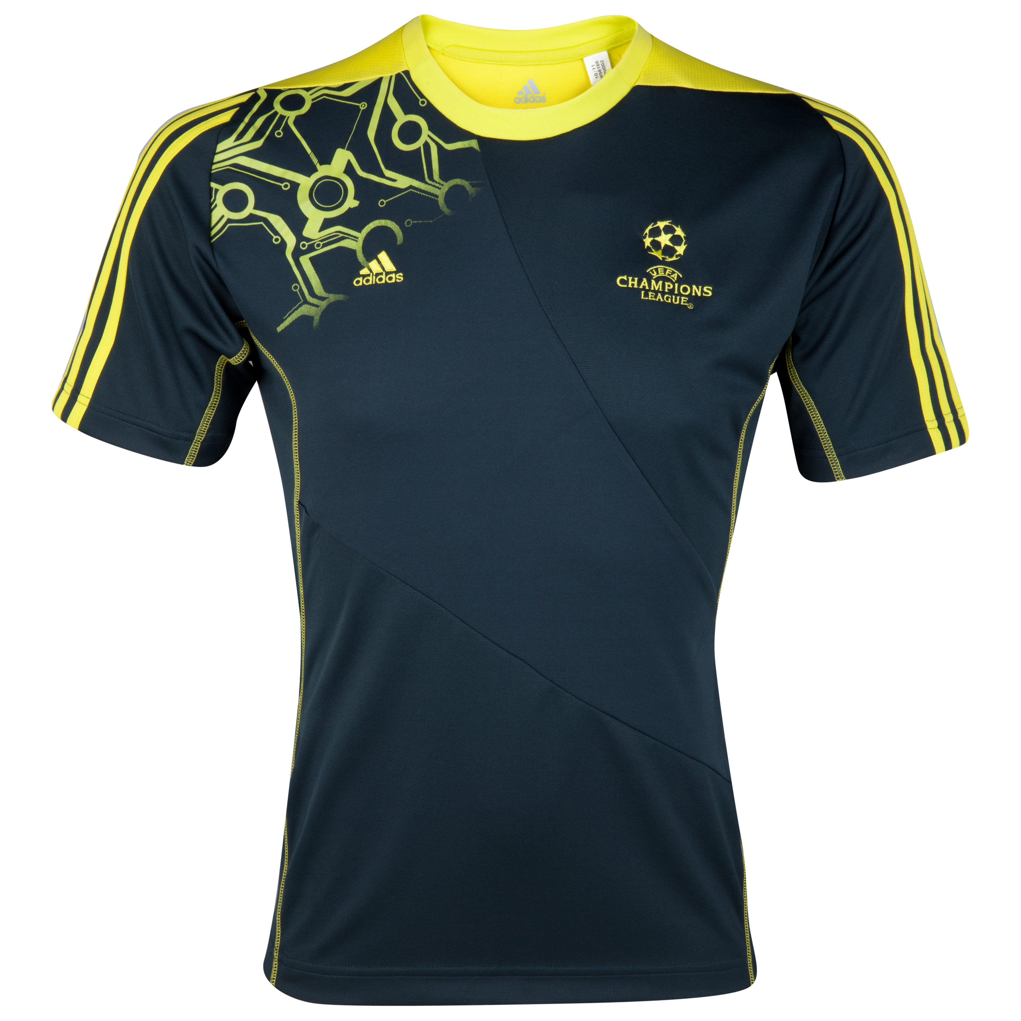 adidas Predator UEFA Champions League Tee - Tech Onix/Lab Lime