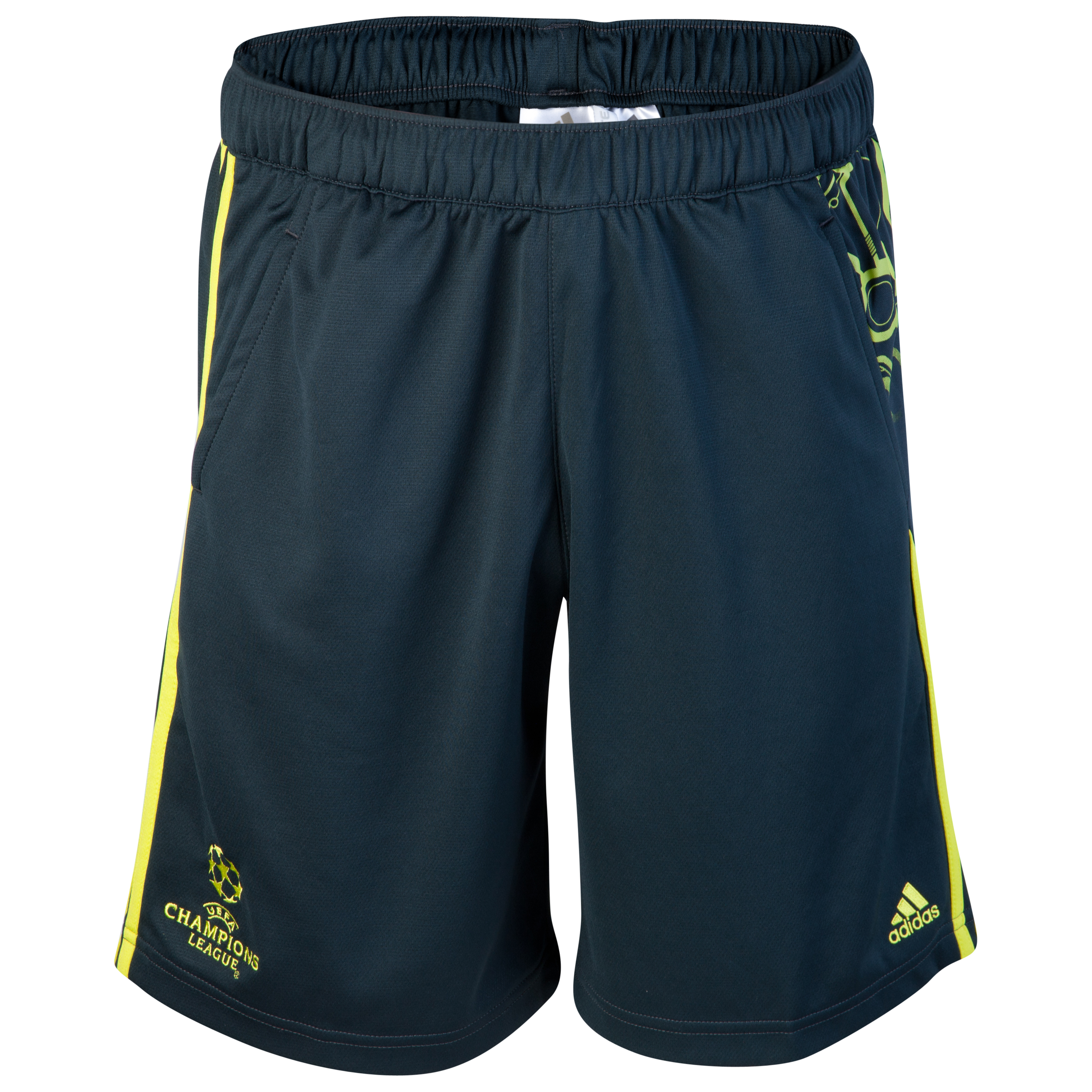 adidas Predator UEFA Champions League Training Short - Tech Onix/Lab Lime