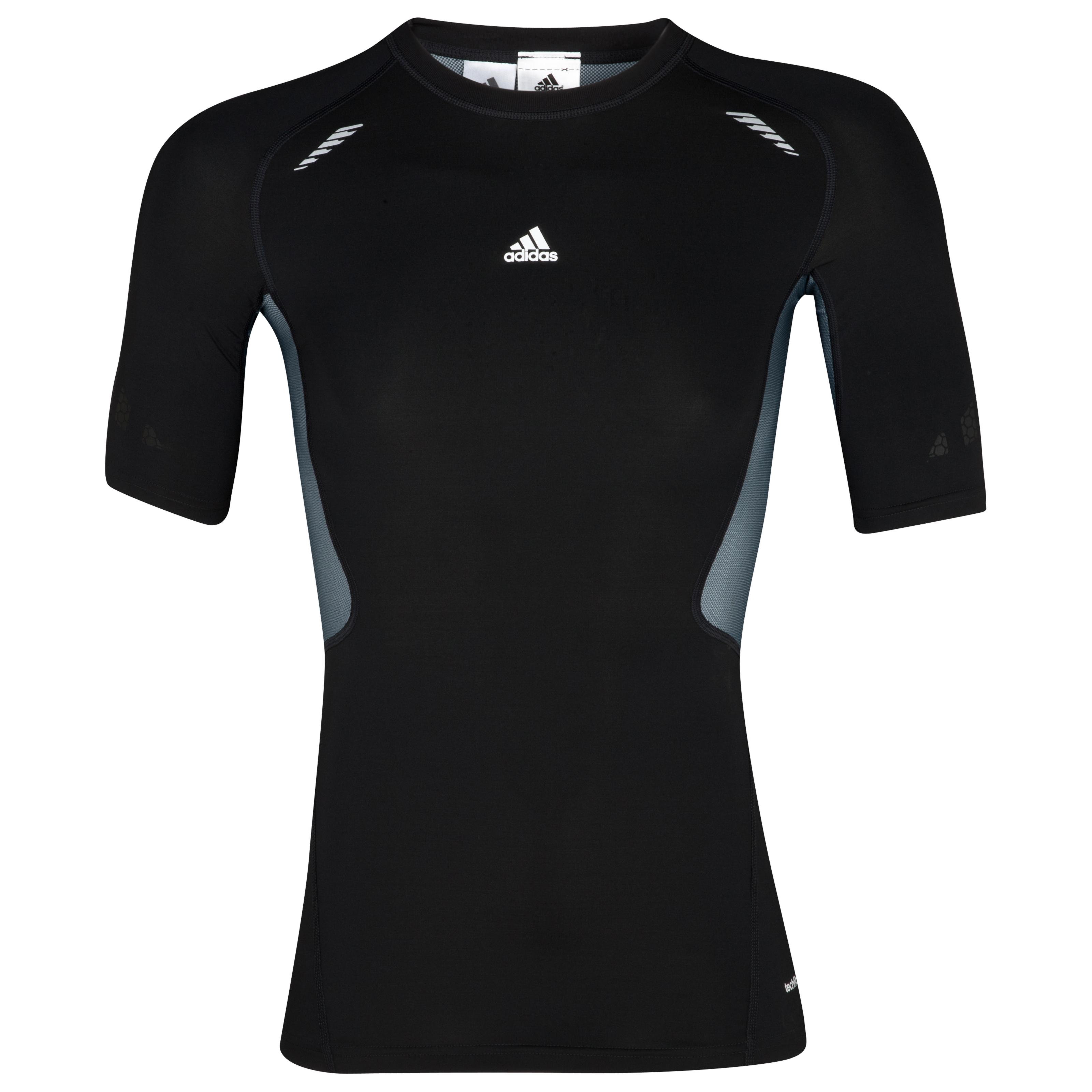 Adidas TechFit Preperation Top - Short Sleeve - Black