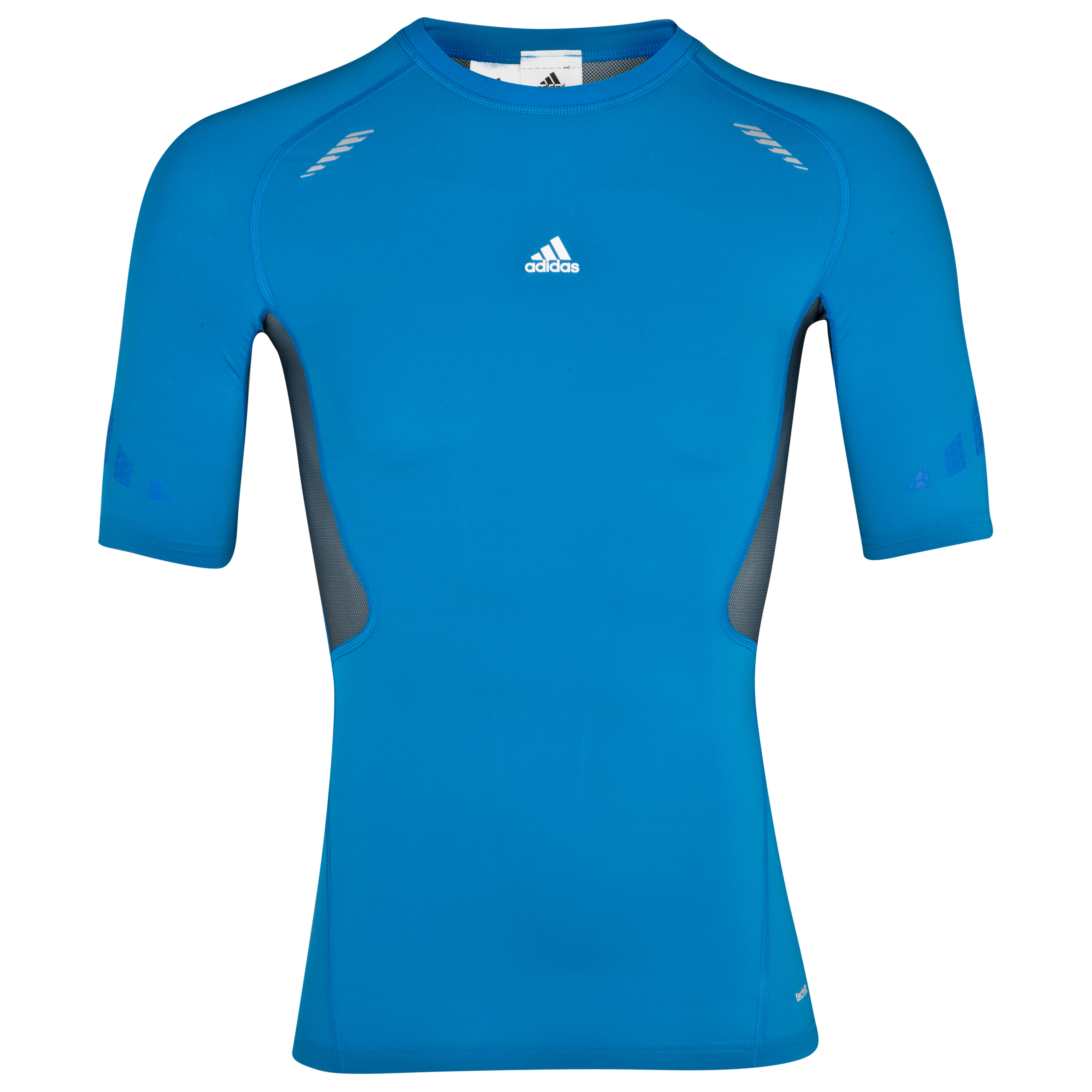 adidas TechFit Preperation Baselayer Top - Short Sleeve - Bright Blue