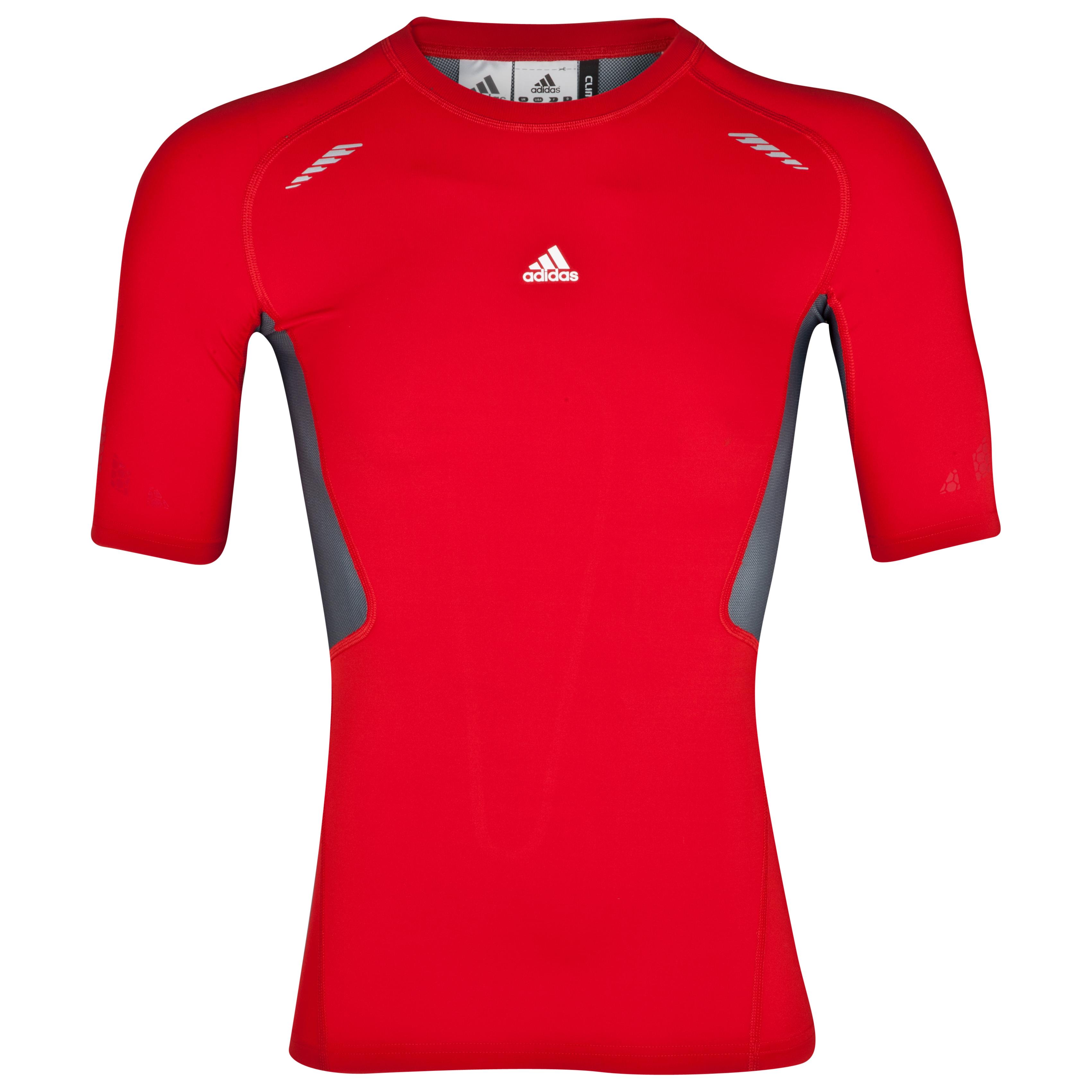 Adidas TechFit Preperation Top - Short Sleeve - Light Scarlet