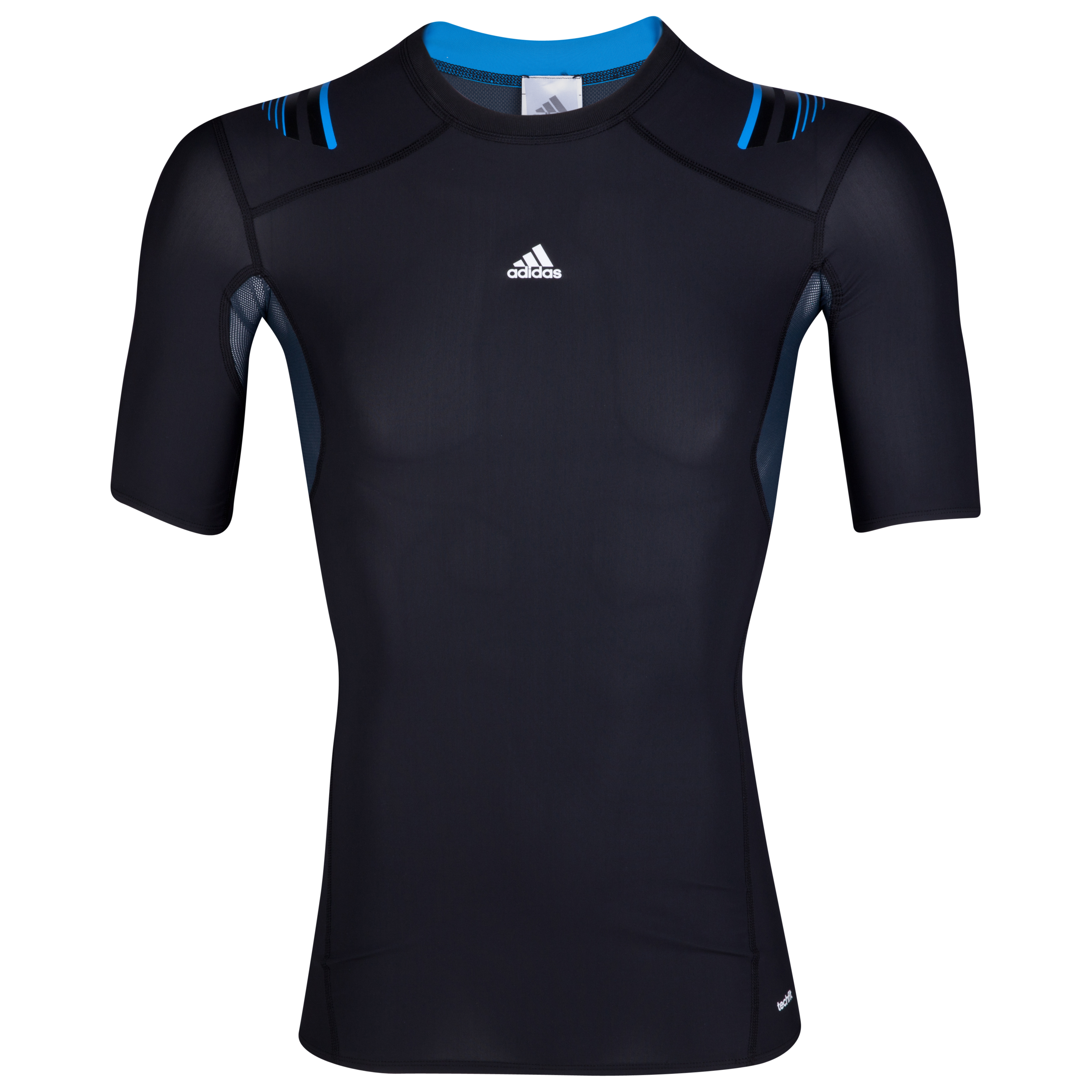 adidas TechFit PowerWeb Baselayer Top - Short Sleeve - Black