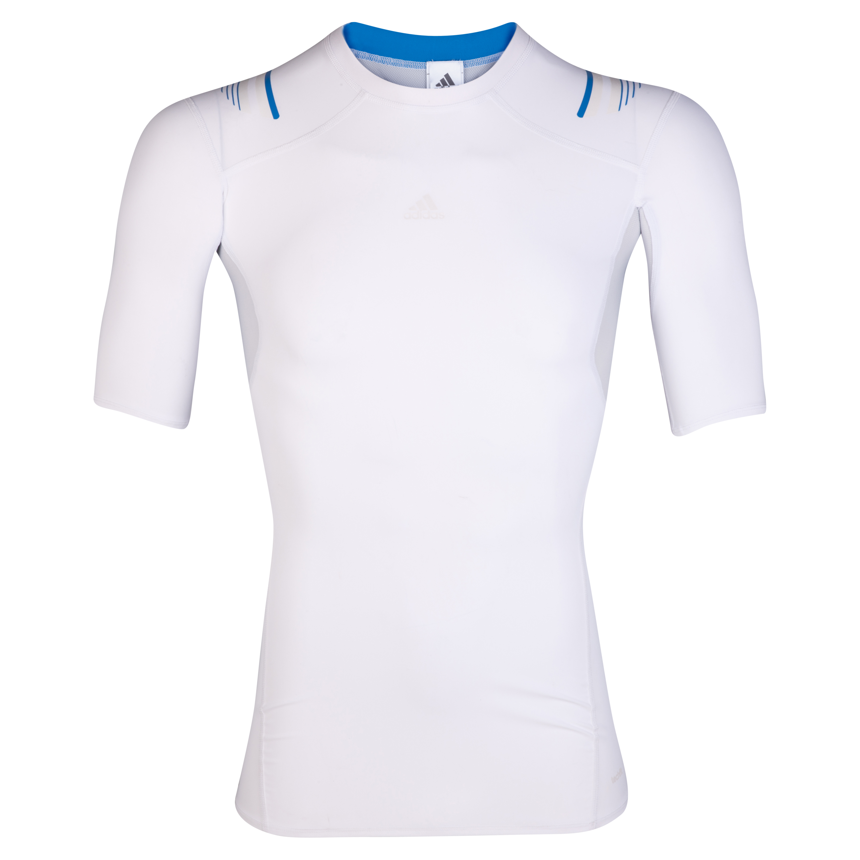 adidas TechFit PowerWeb Baselayer Top - Short Sleeve - White