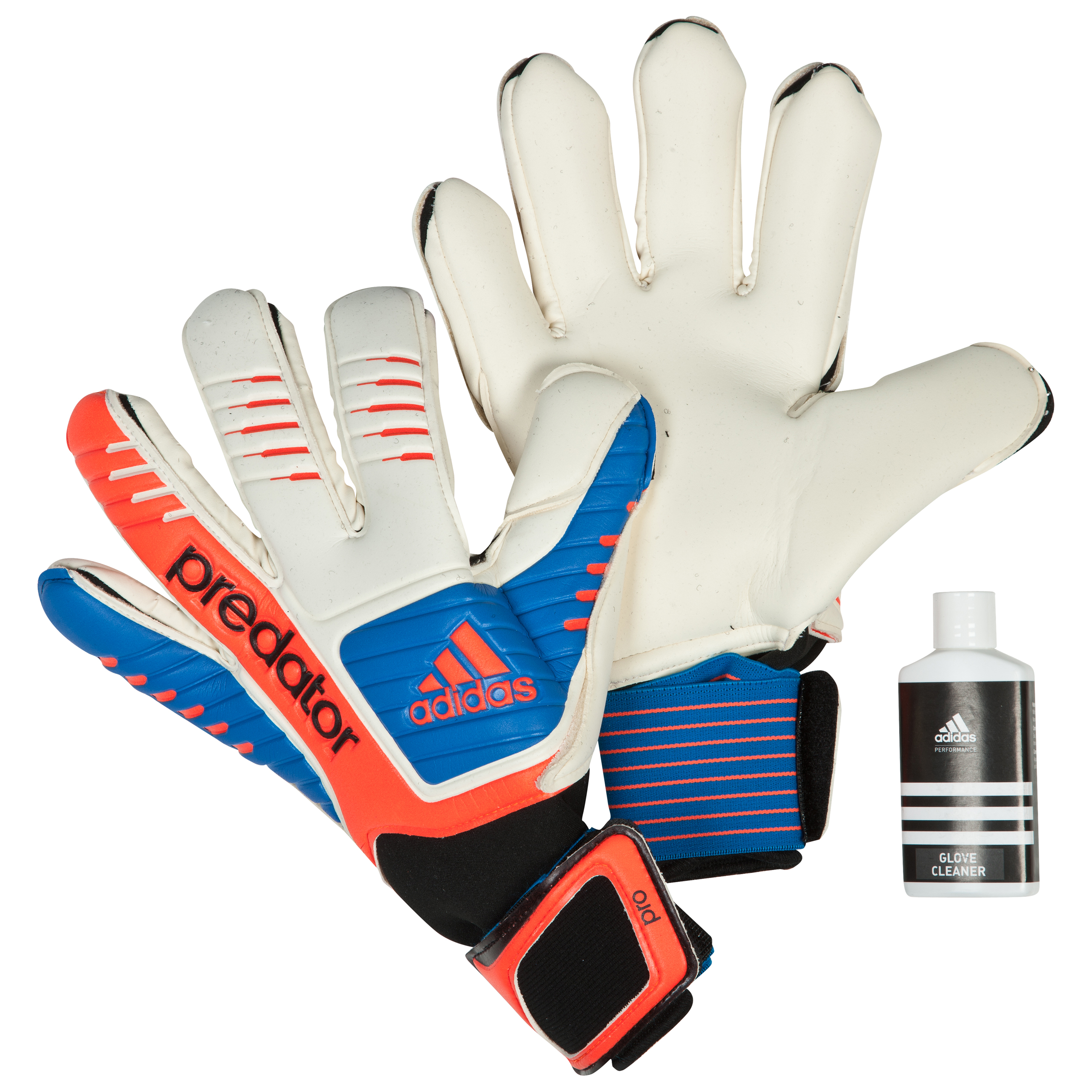 Adidas Predator Pro Goalkeeper Gloves - White/Bright Blue/Infrared