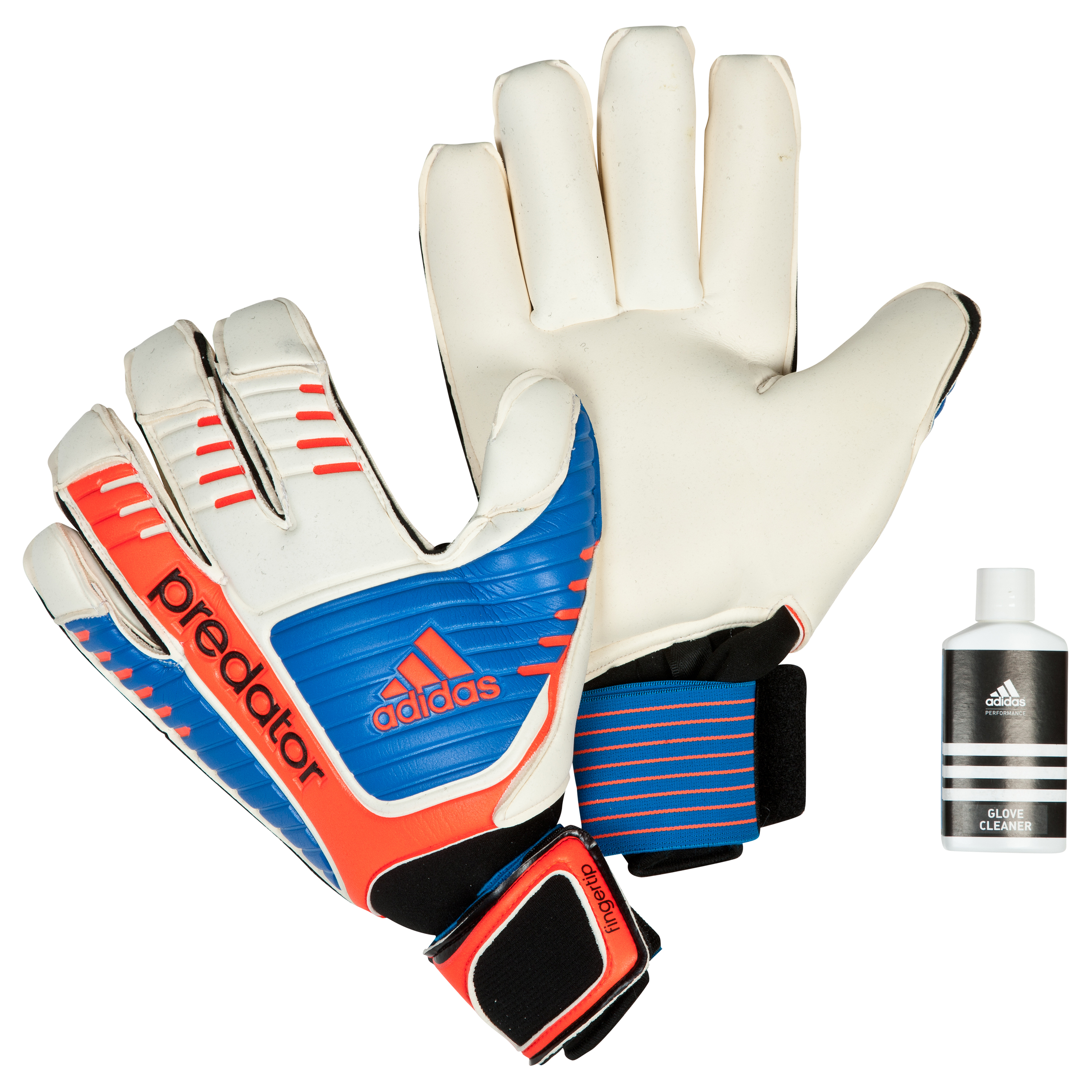 Adidas Predator Fingertip Goalkeeper Gloves - White/Bright Blue/Infrared