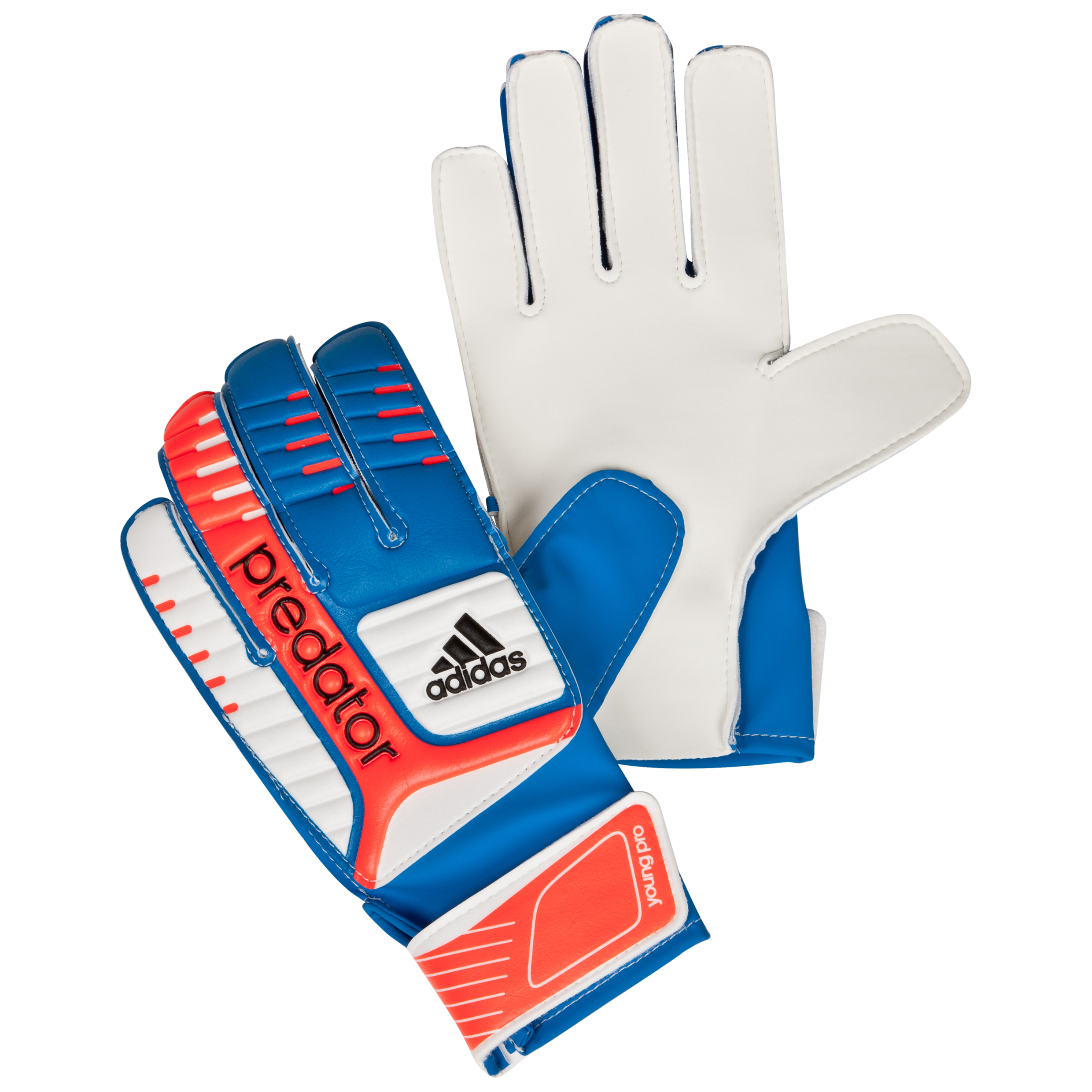 adidas Predator Young Pro Goalkeeper Gloves - Infrared/Bright Blue/White