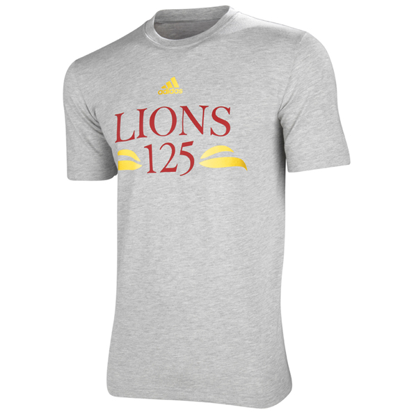 adidas British and Irish Lions 125 Year Anniversary T-Shirt - Medium Grey Heather