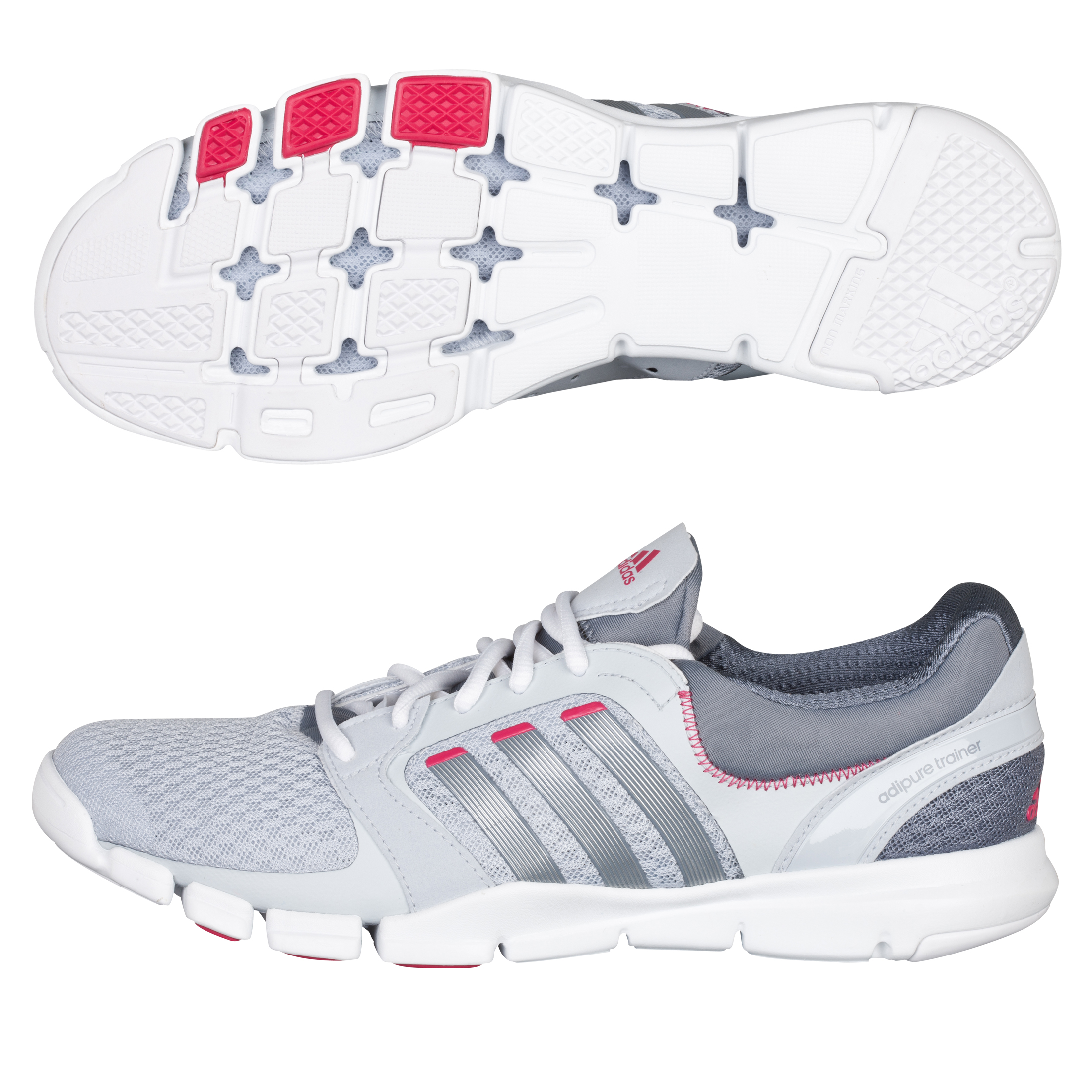 Adidas adipure Trainer 360 - Grey/Bright Pink - Womens