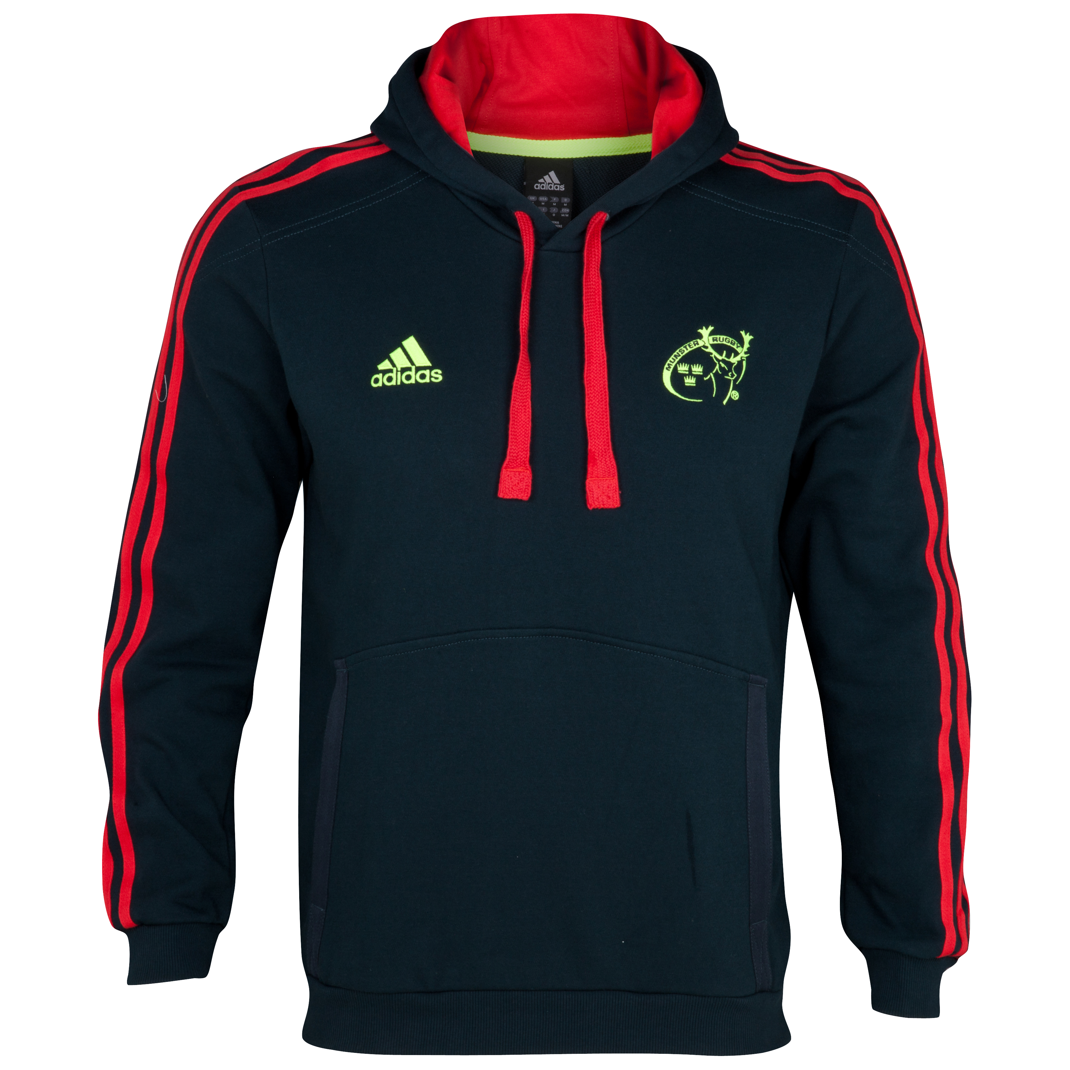 Munster Training Hoodie - Tech Onix/Collegiate Red