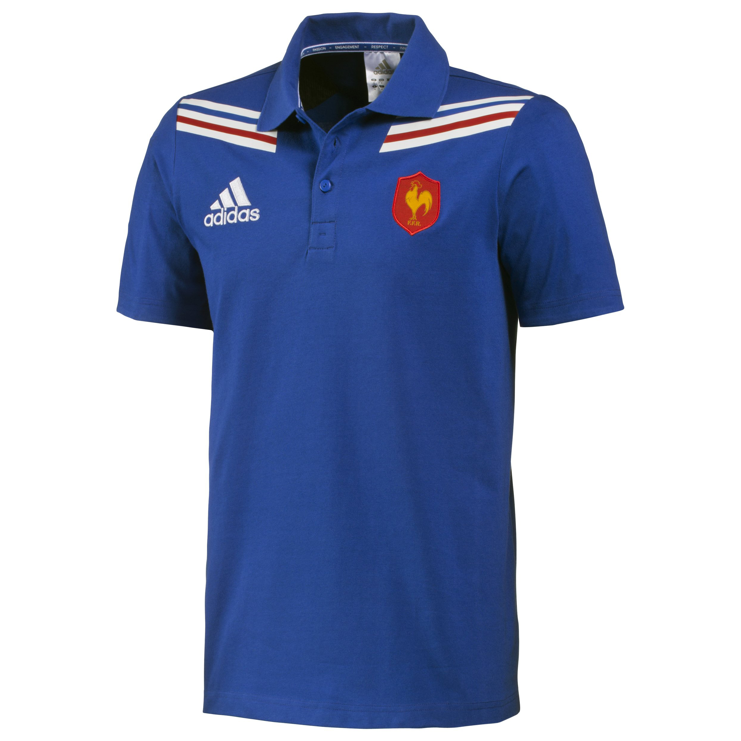 France Rugby Polo Shirt - True Blue