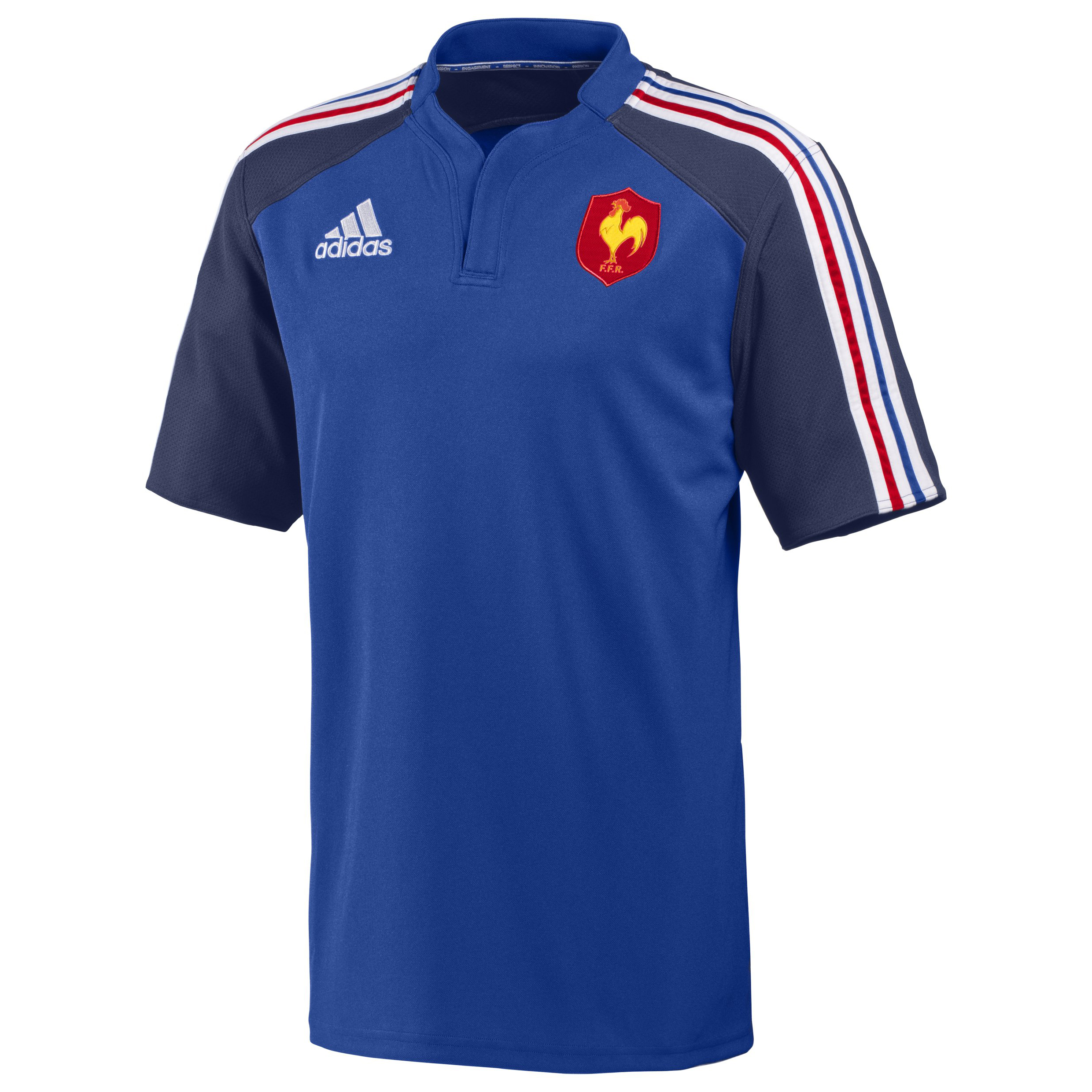 France Rugby Training Jersey - True Blue/New Navy/White/Poppy
