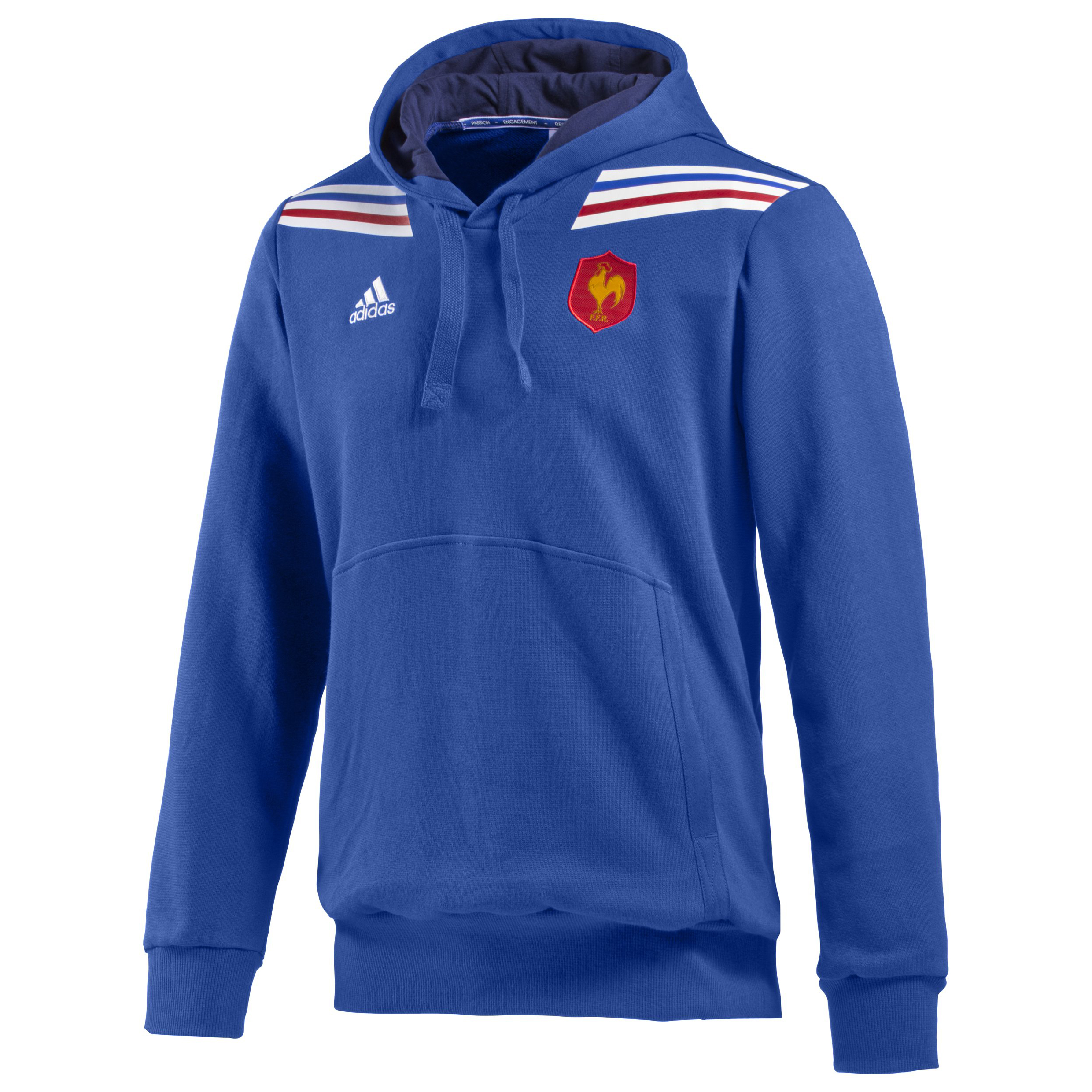 France Rugby Hooded Sweatshirt - True Blue