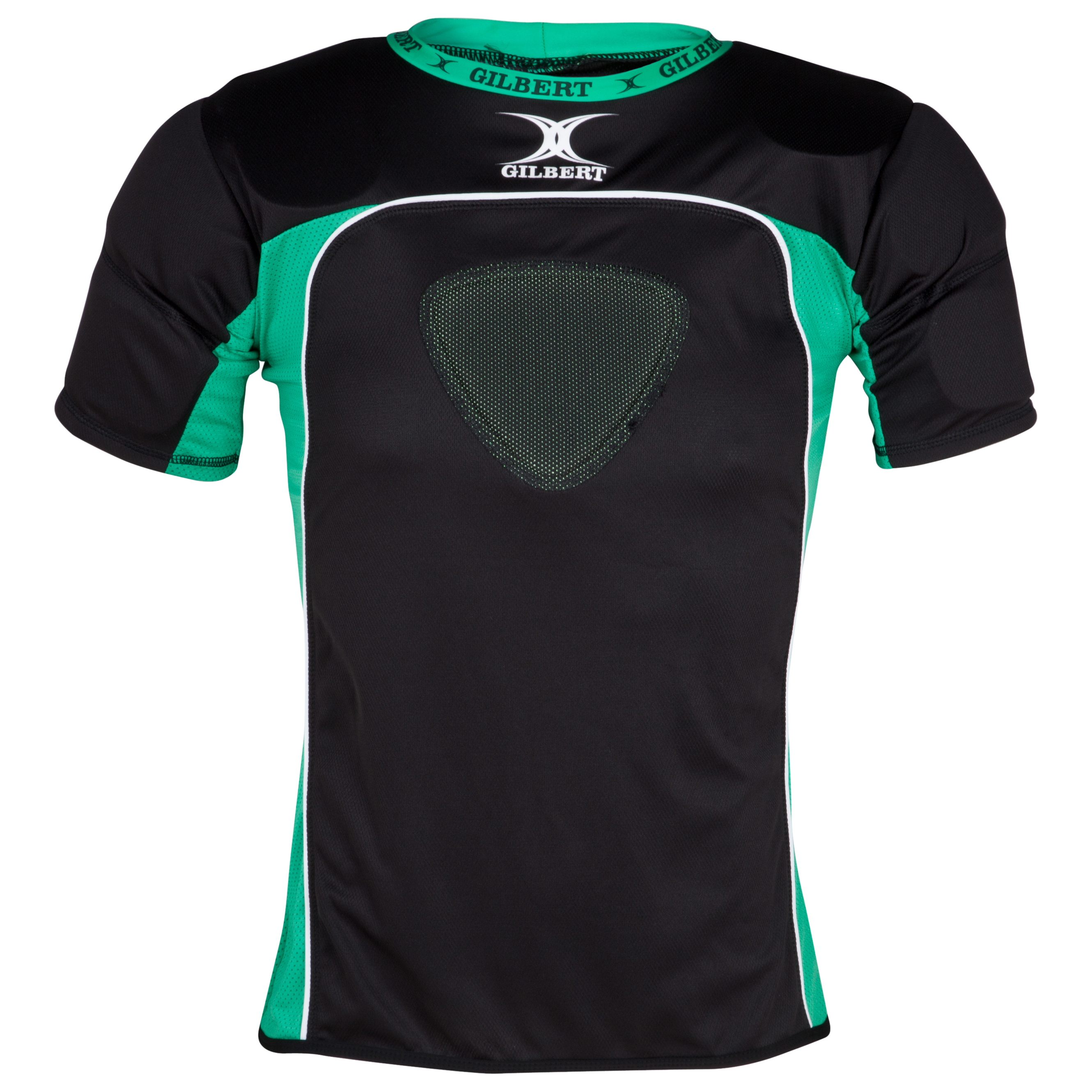 Gilbert Atomic Rugby Body Armour - Black Green