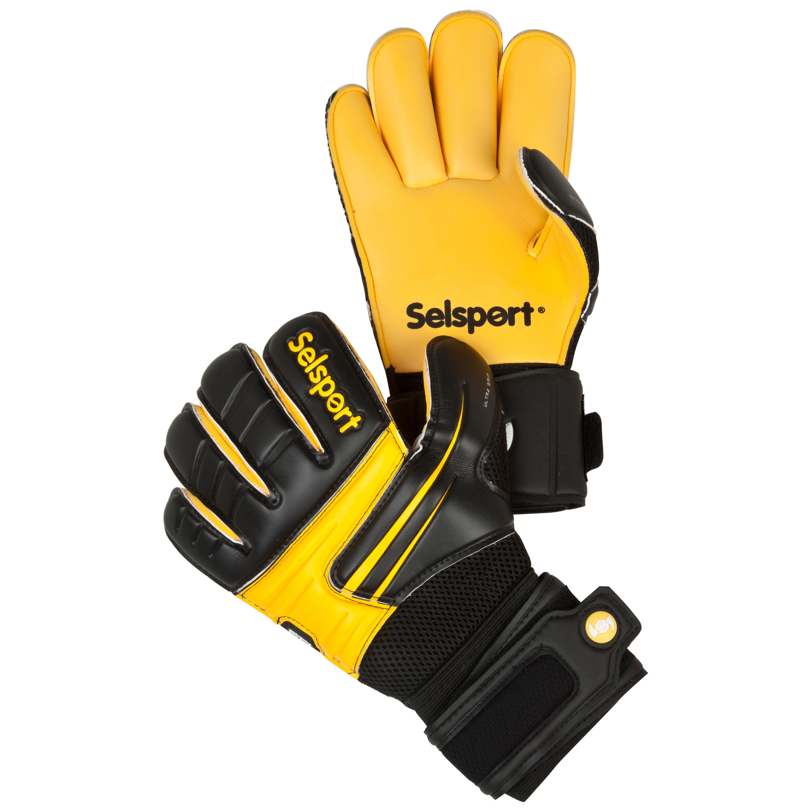Selsport Extreme 7 Goalkeeper Gloves - Black/Yellow