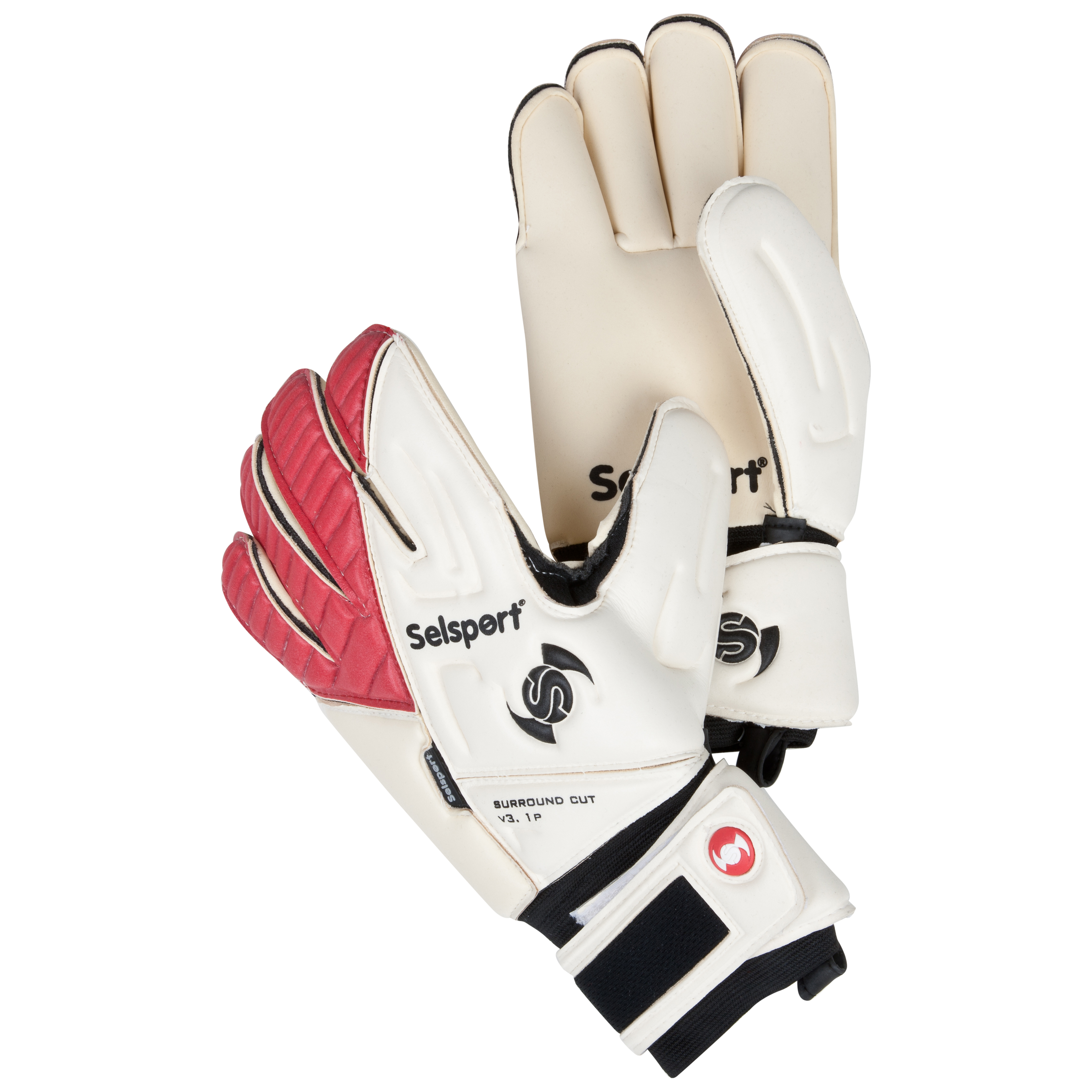 Selsport Absorb 3 Goalkeeper Gloves - White/Red