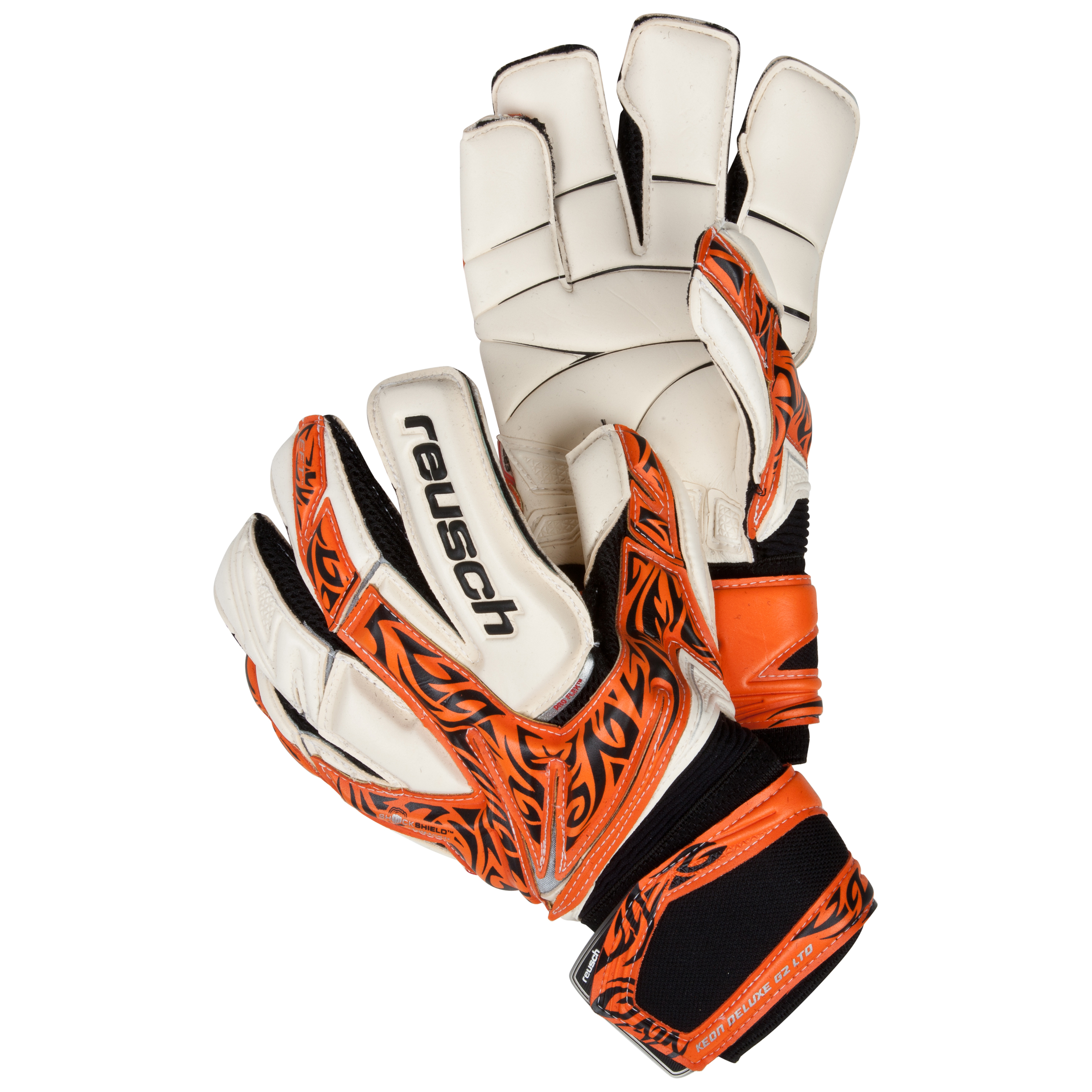 Reusch Keon Deluxe G2 LTD Goalkeeper Gloves-Orange/Black/Ltd